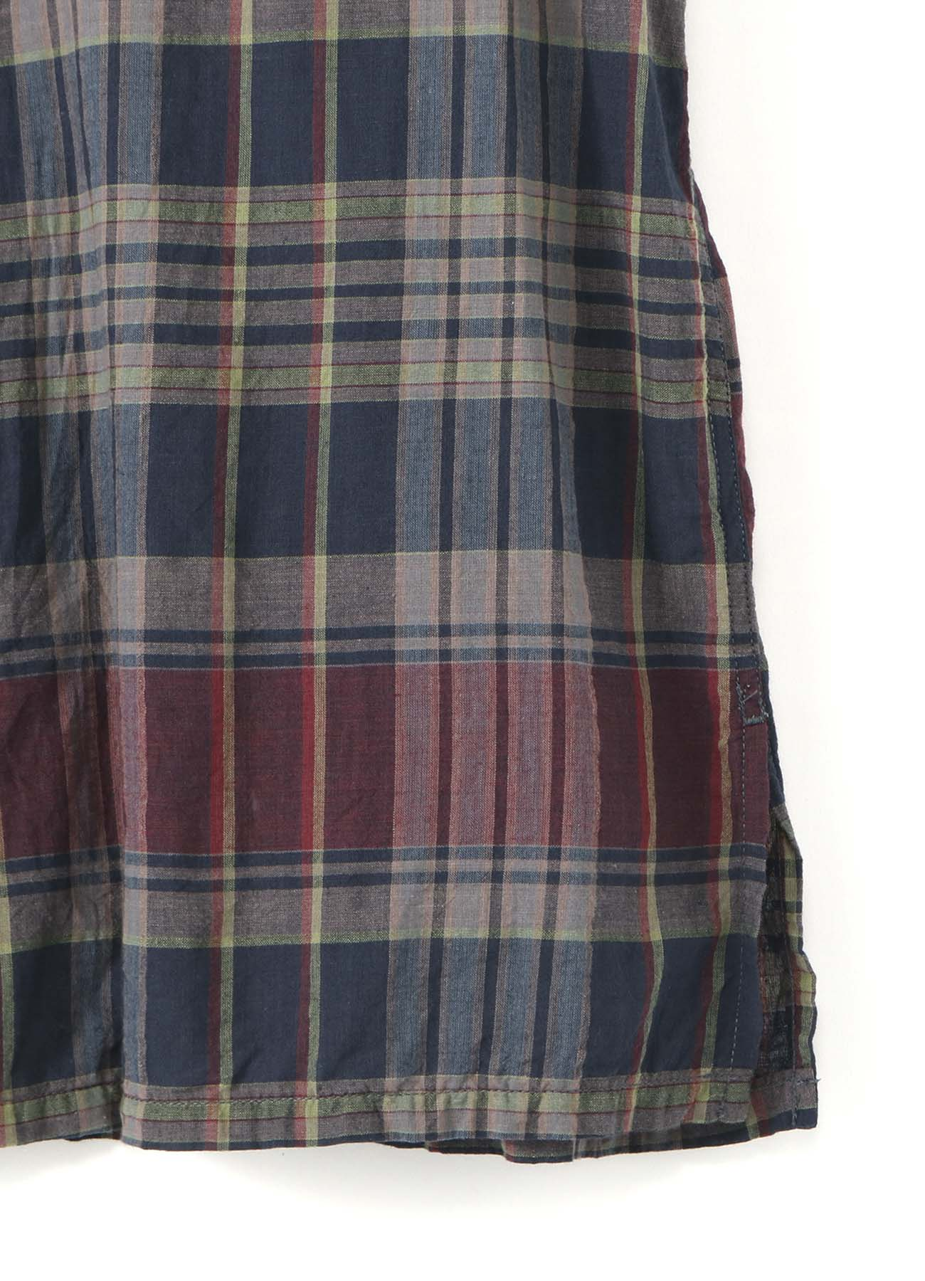 Y's BANG ON!No.32 Sleeve placket-Shirts Indian madras
