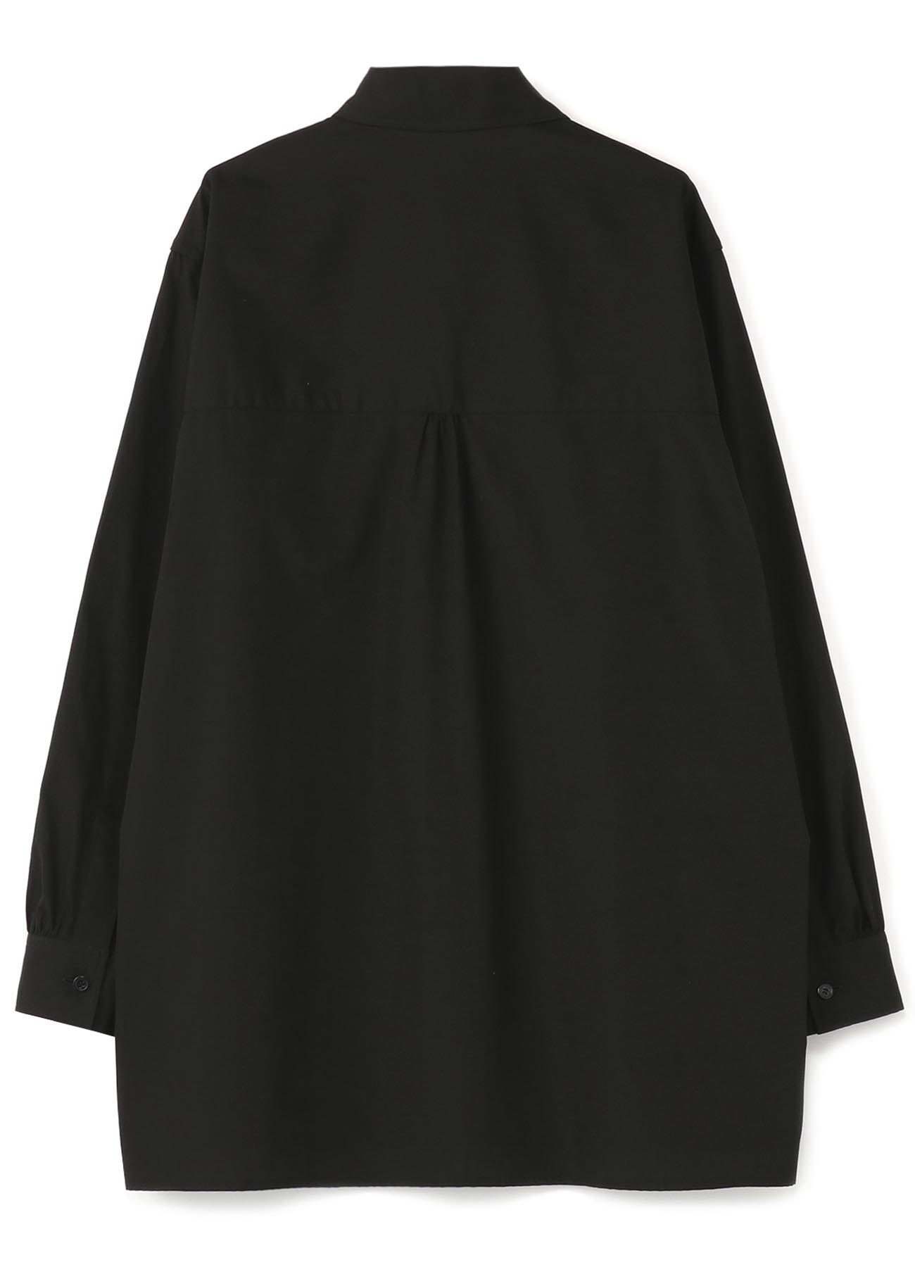 No.80 変形襟ボタンホールシャツ コットンブロード