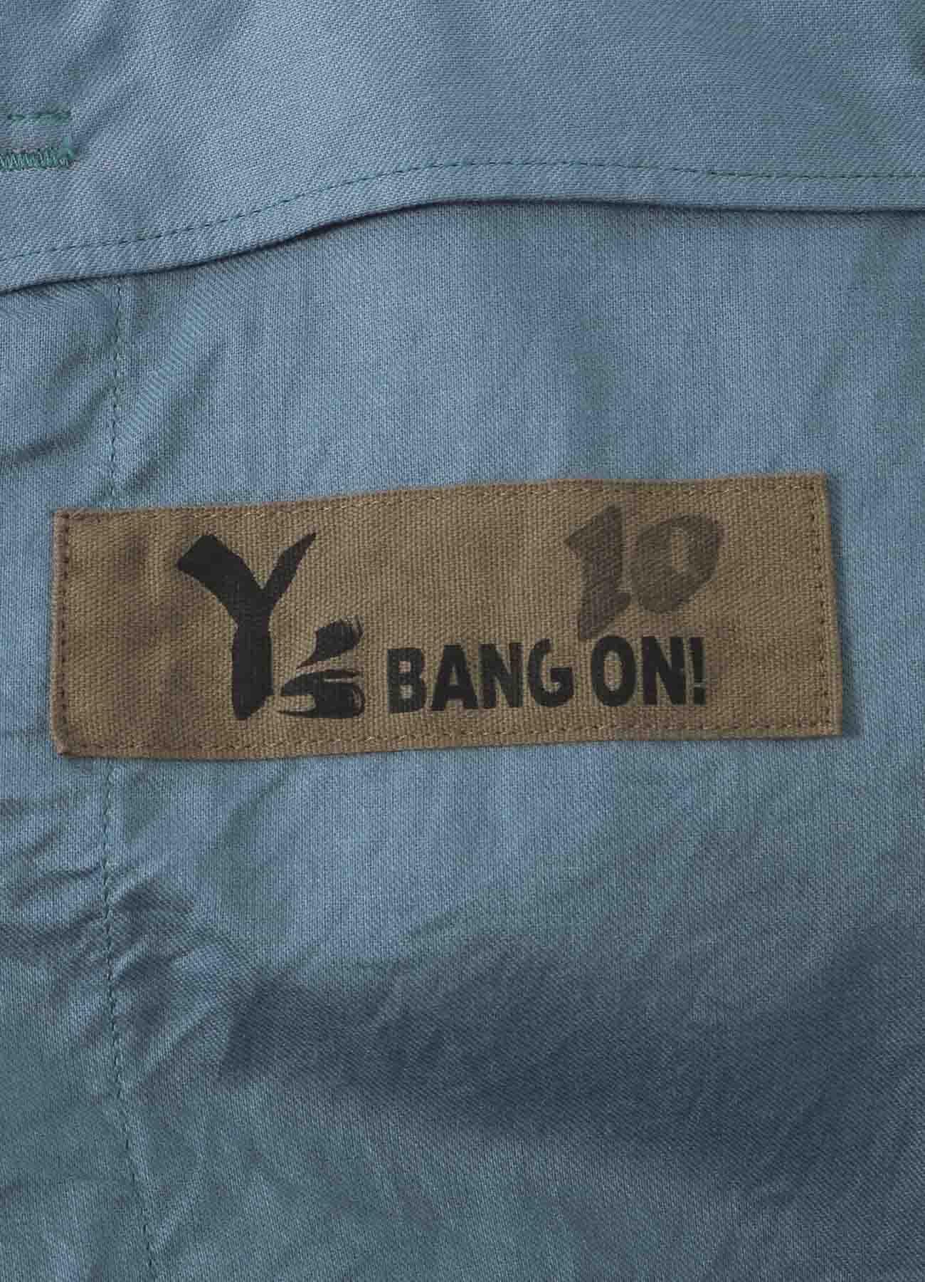 No.10 String Hem Wide Pants Yarn-Dyed Cupra