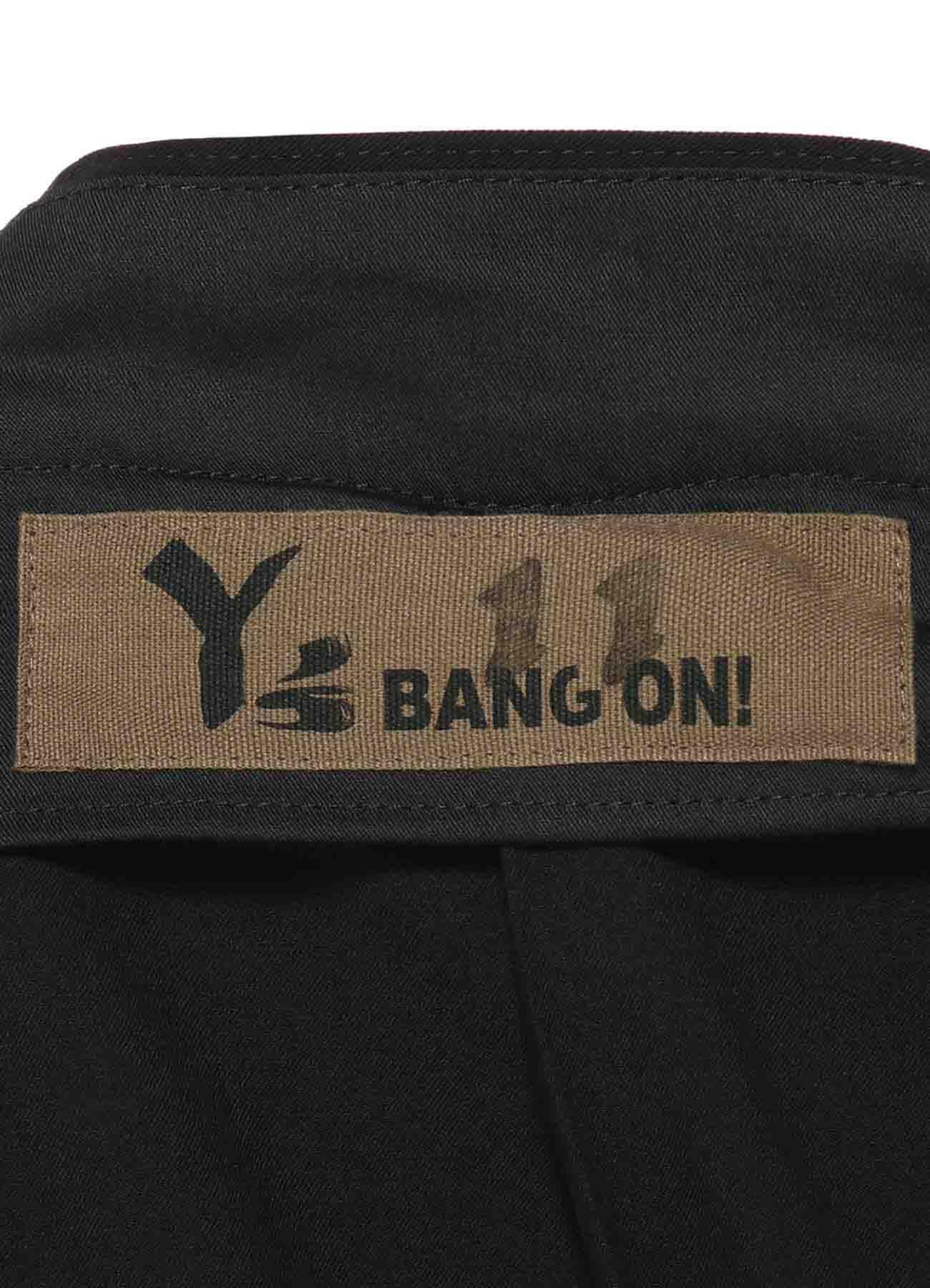 Y's BANG ON!No.11 Pleats pants Stretch gabardine