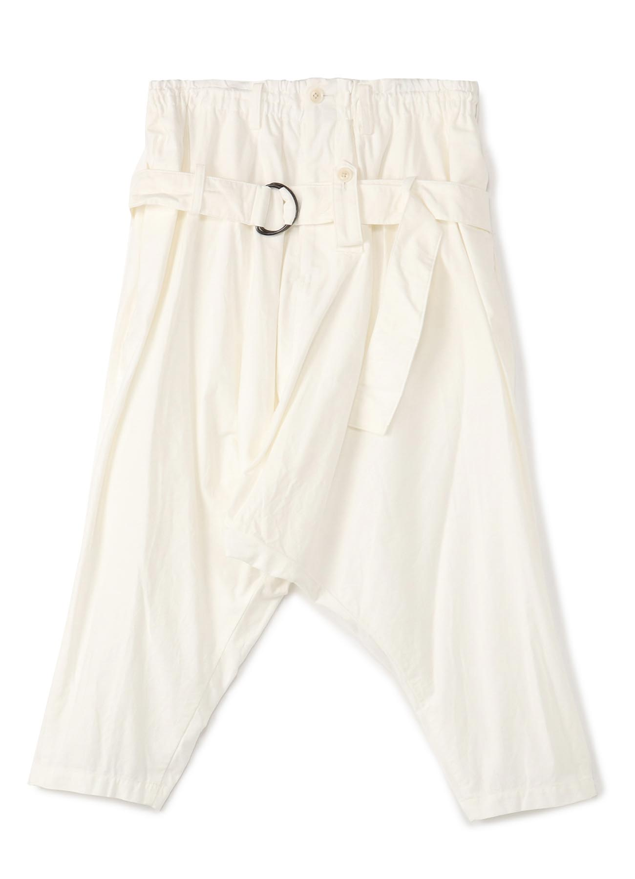 Y's BANG ON!No.104 Bandage Sarouel Pants Cotton Twill