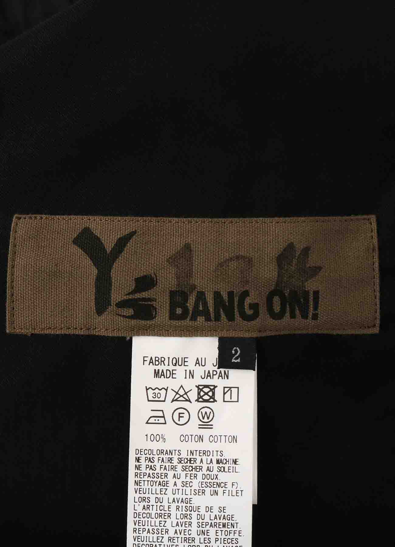 Y's BANG ON!No.104 Bandage Sarouel Pants Cotton Twill