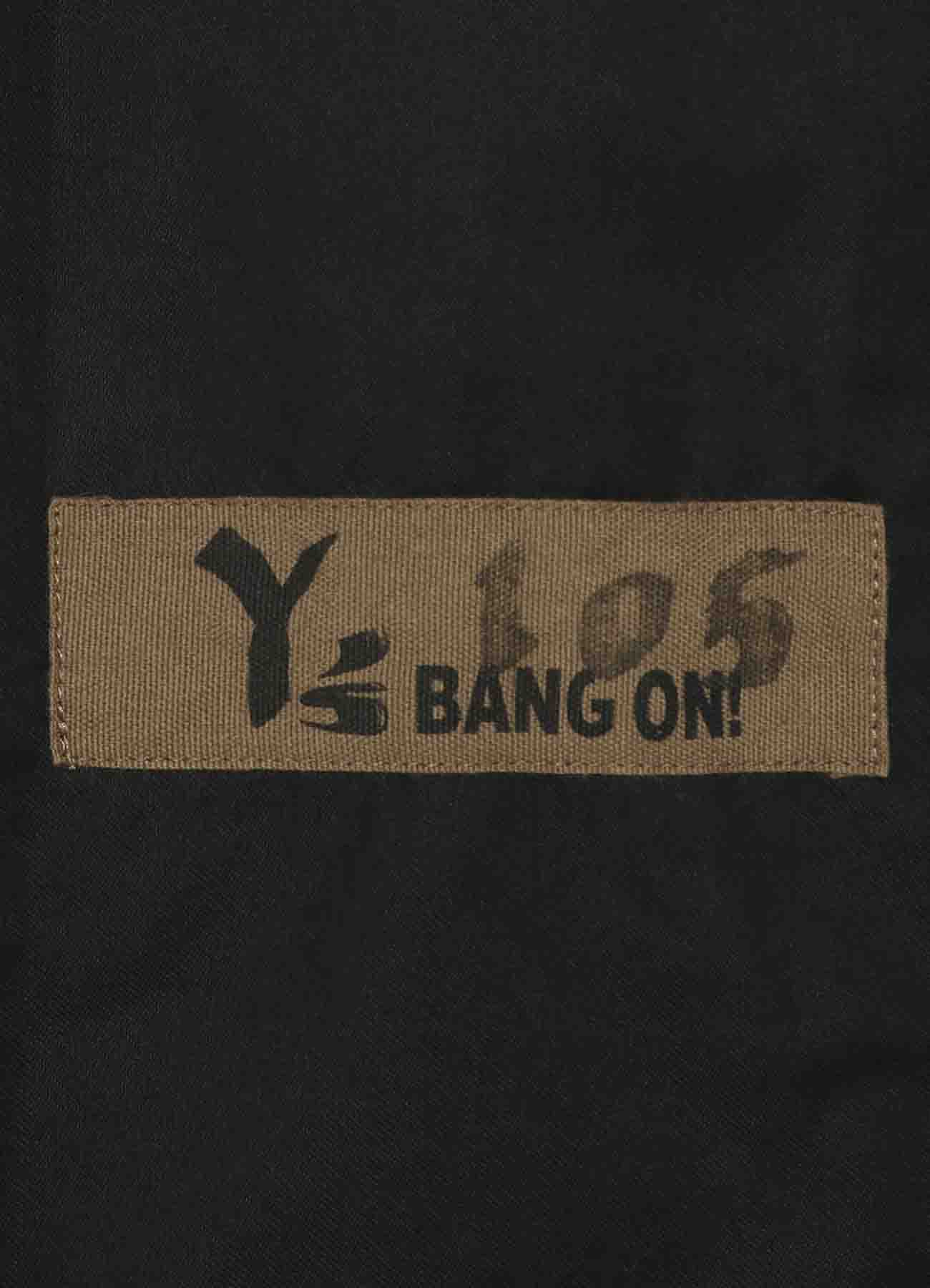 Y's BANG ON!No.105 Bandage Pants Cotton Twill