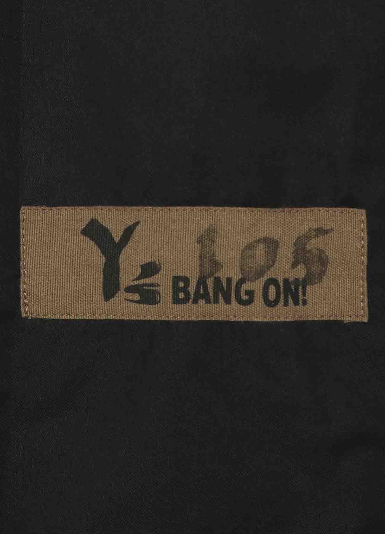 Y's BANG ON!No.105 Bandage Pants Cotton Twill