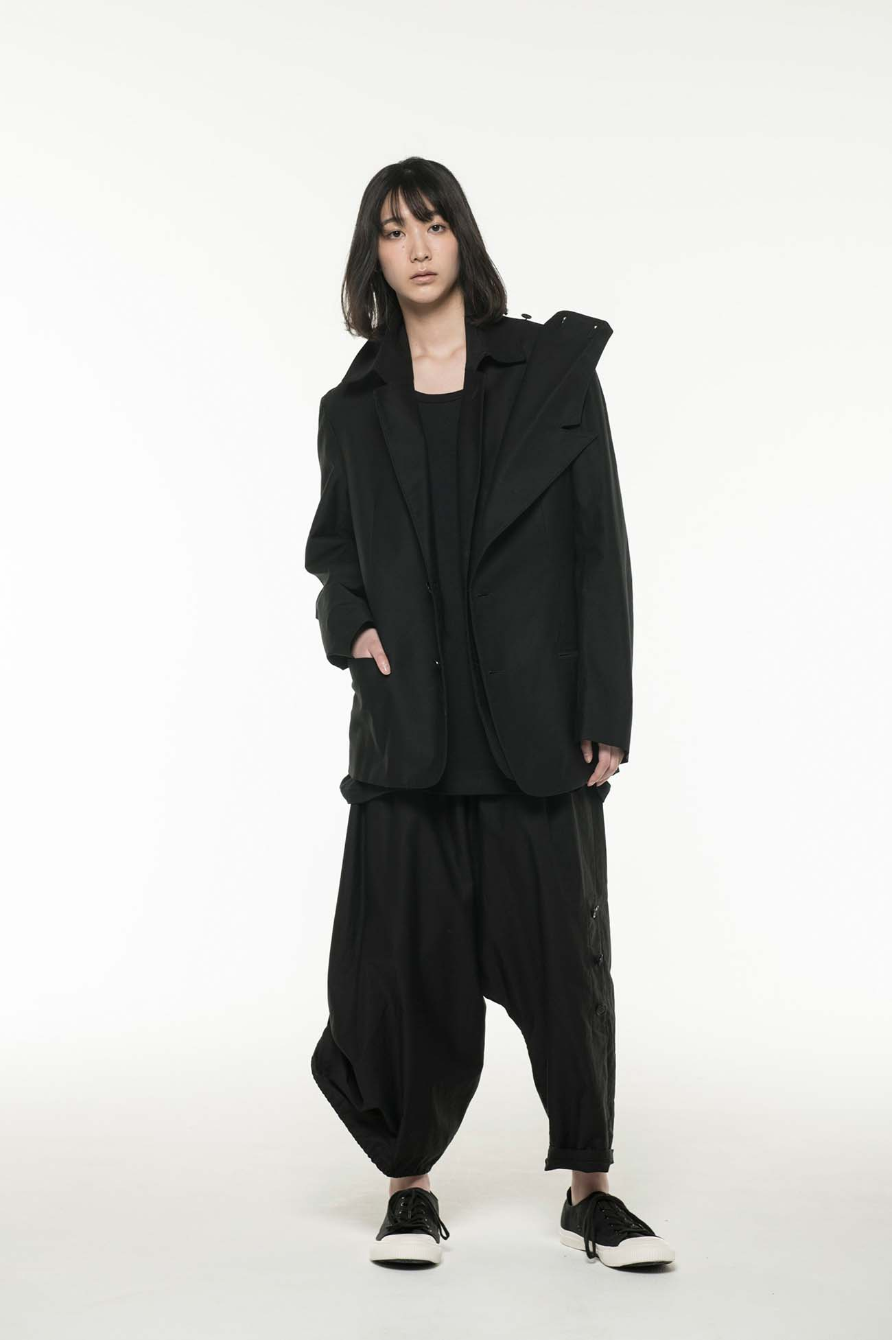 Y's BANG ON!No.106 Roll up Sarouel Pants Cotton Twill