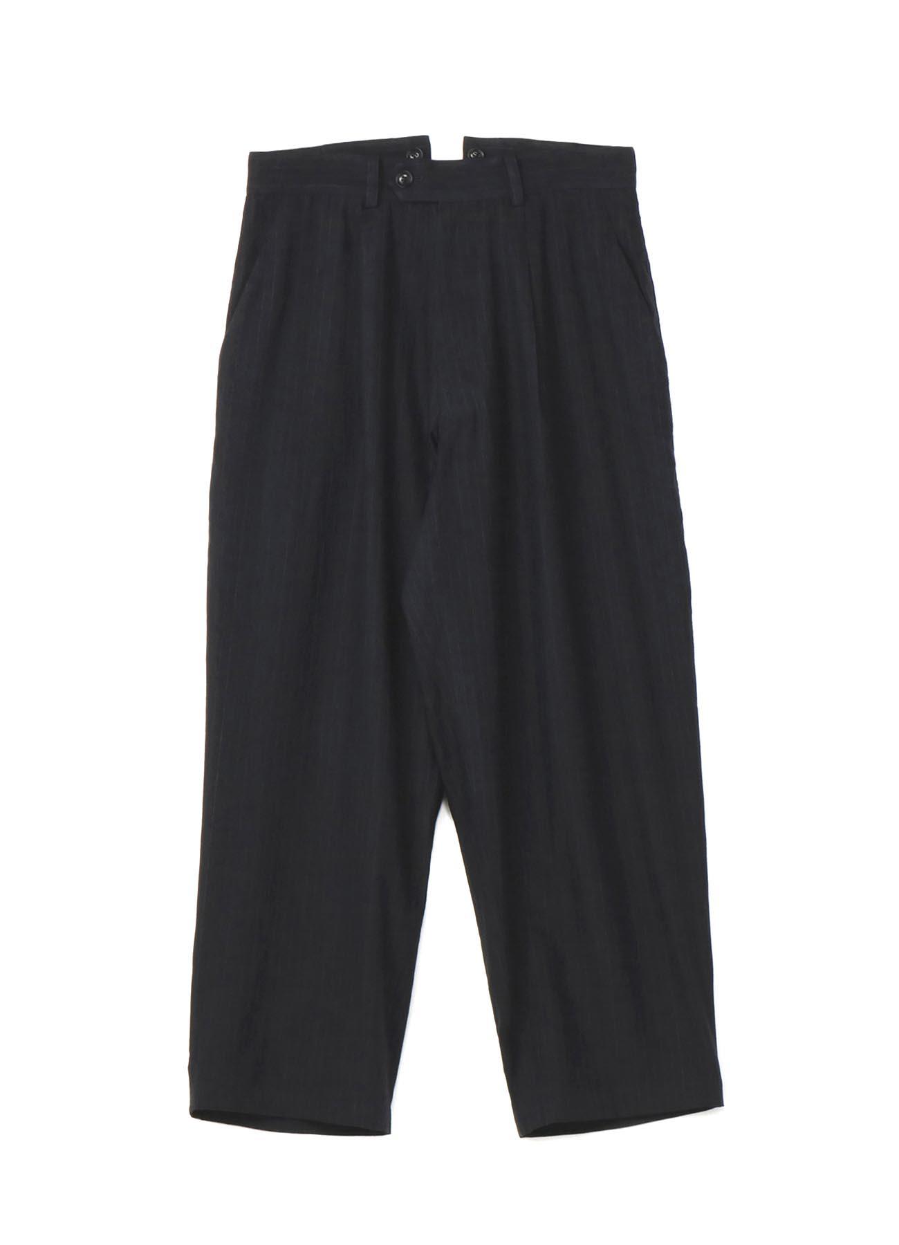 No.19棉亚麻条纹吊带裤
