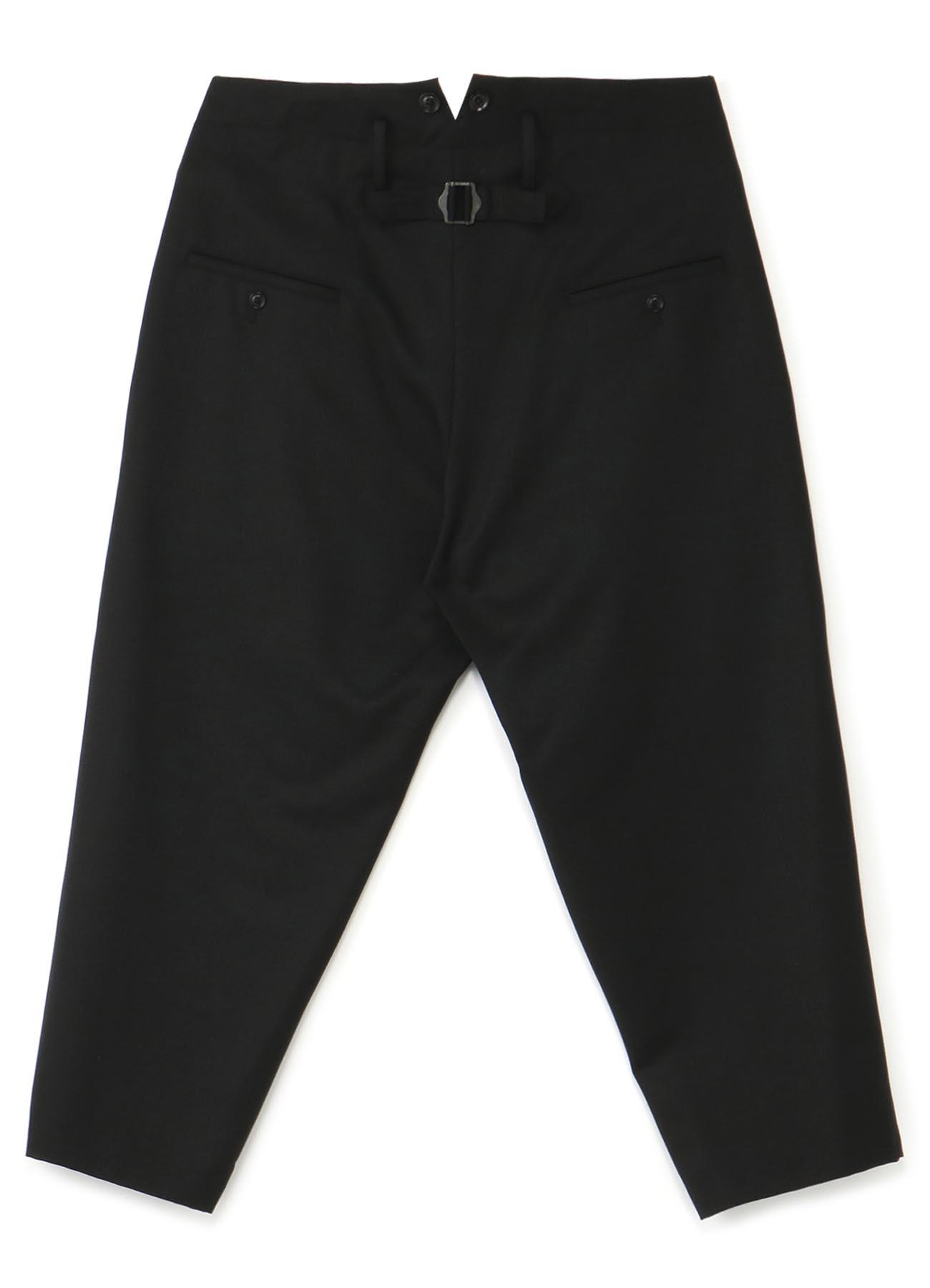 No.77 羊毛可调节腰围锥形裤