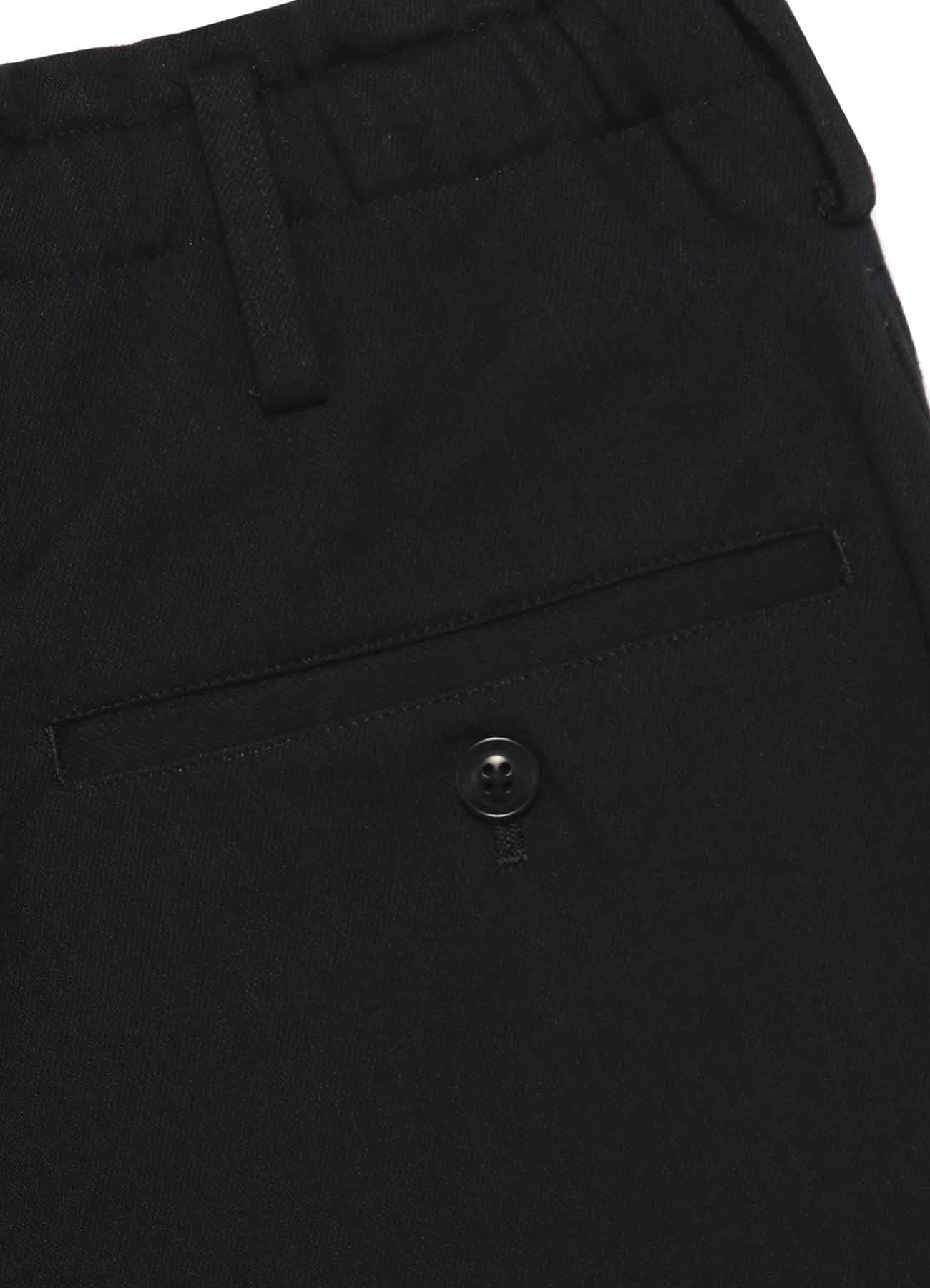 Y's BANG ON!No.97 Pleats sarouel-Pants Black denim