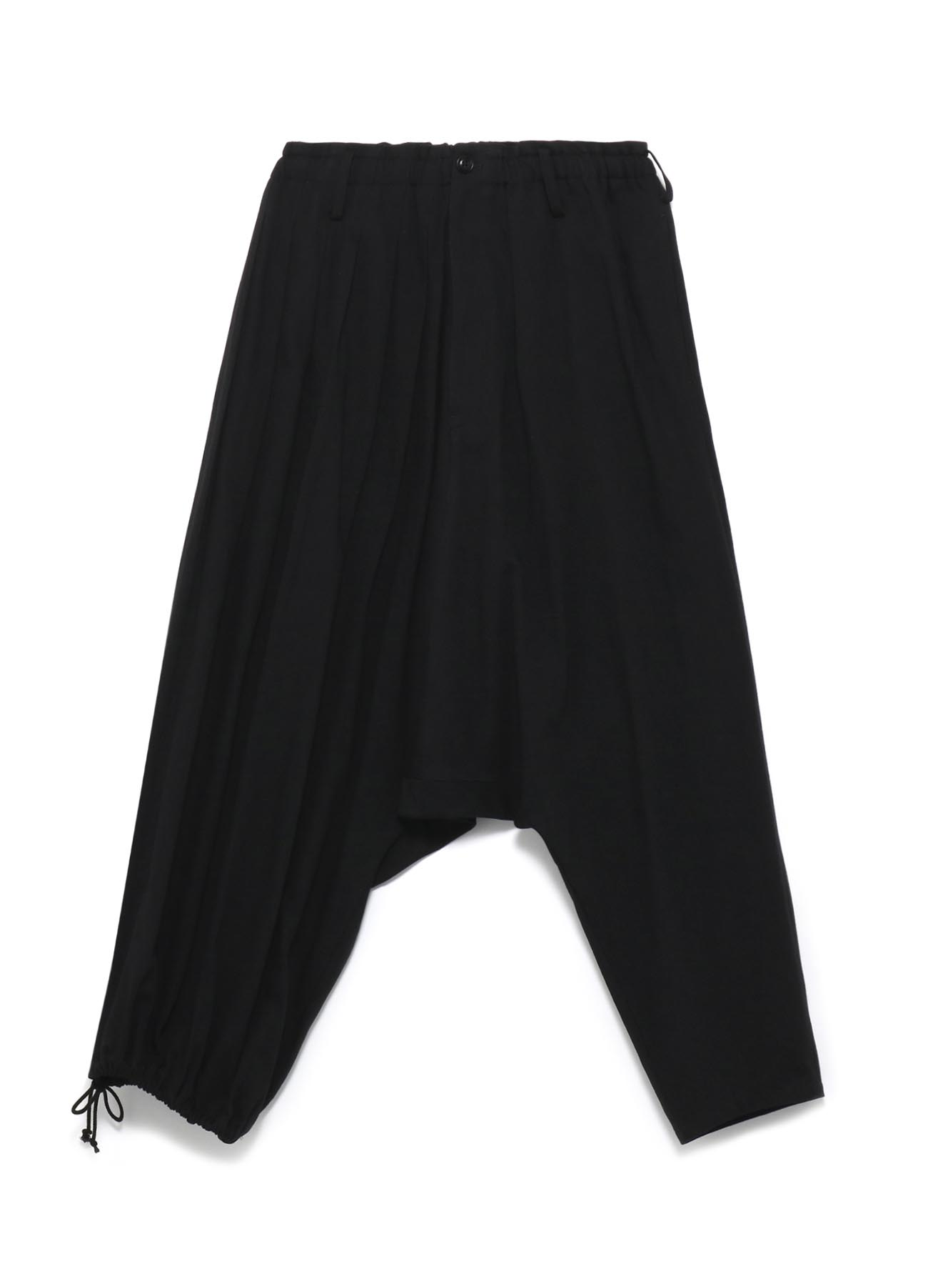 Y's BANG ON!No.97 Pleats sarouel-Pants Black denim