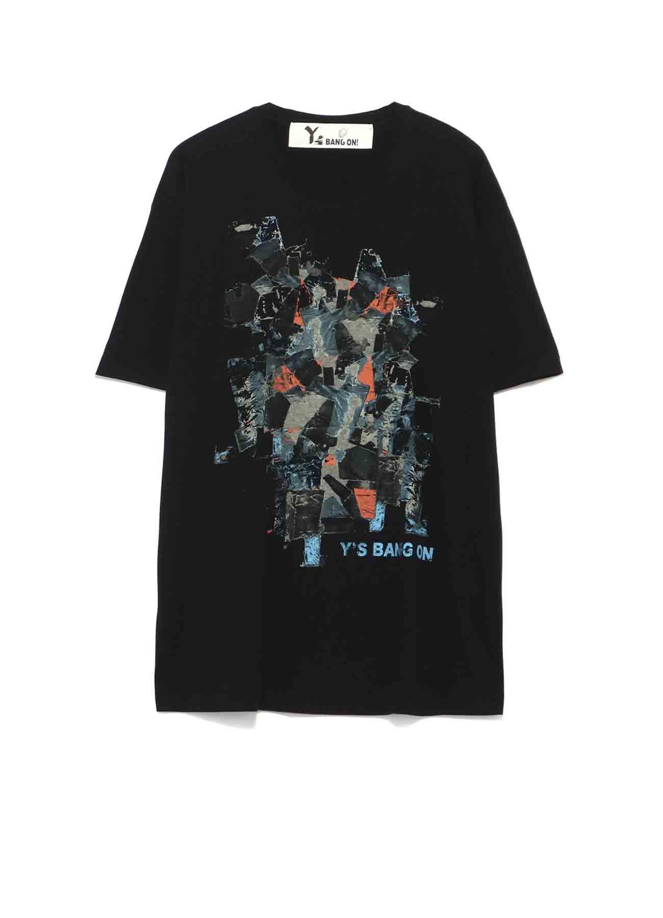 Y's BANG ON!Denim collage T-shirts
