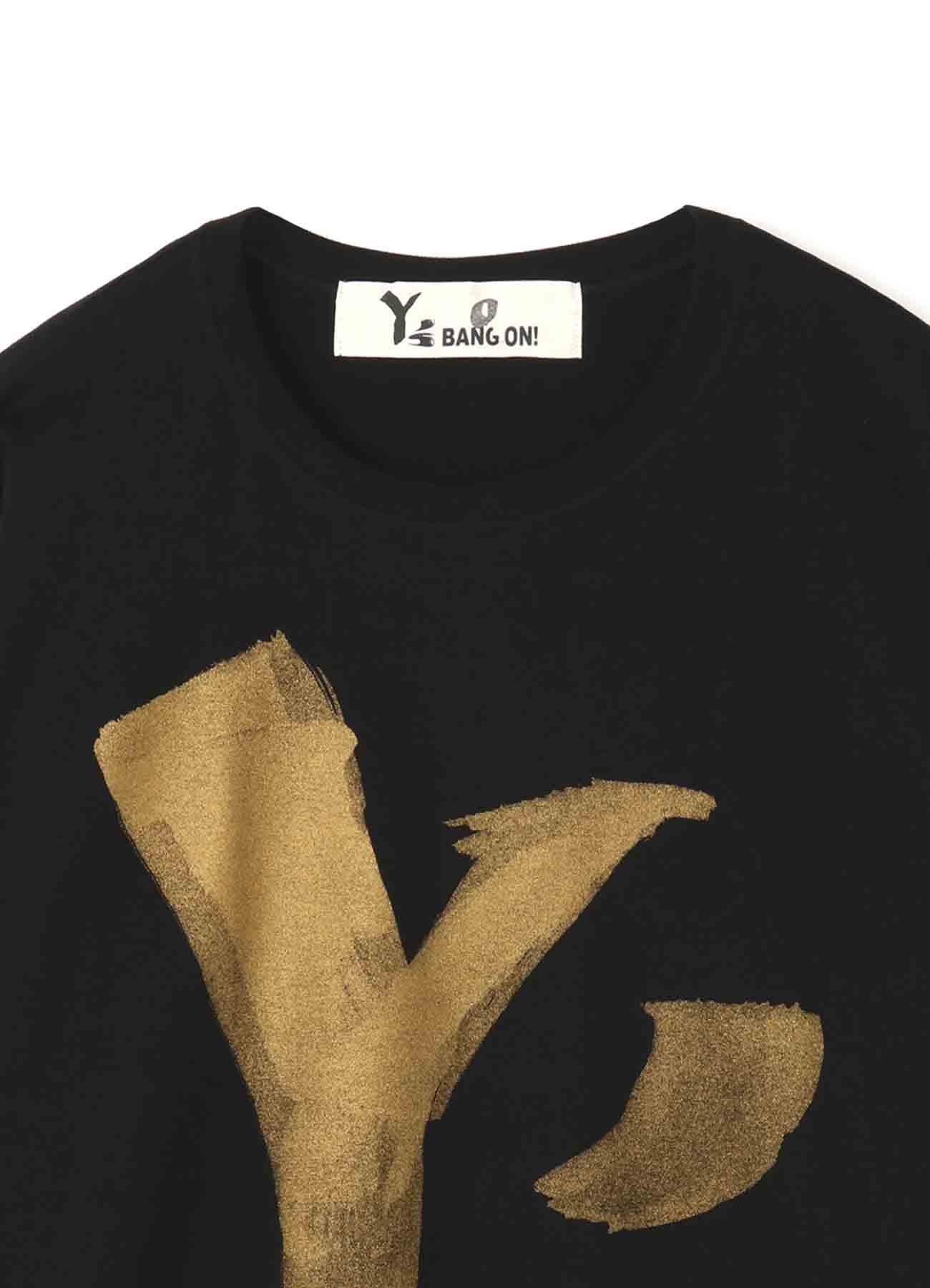 Y's BANG ON! デカロゴTシャツ ゴールド
