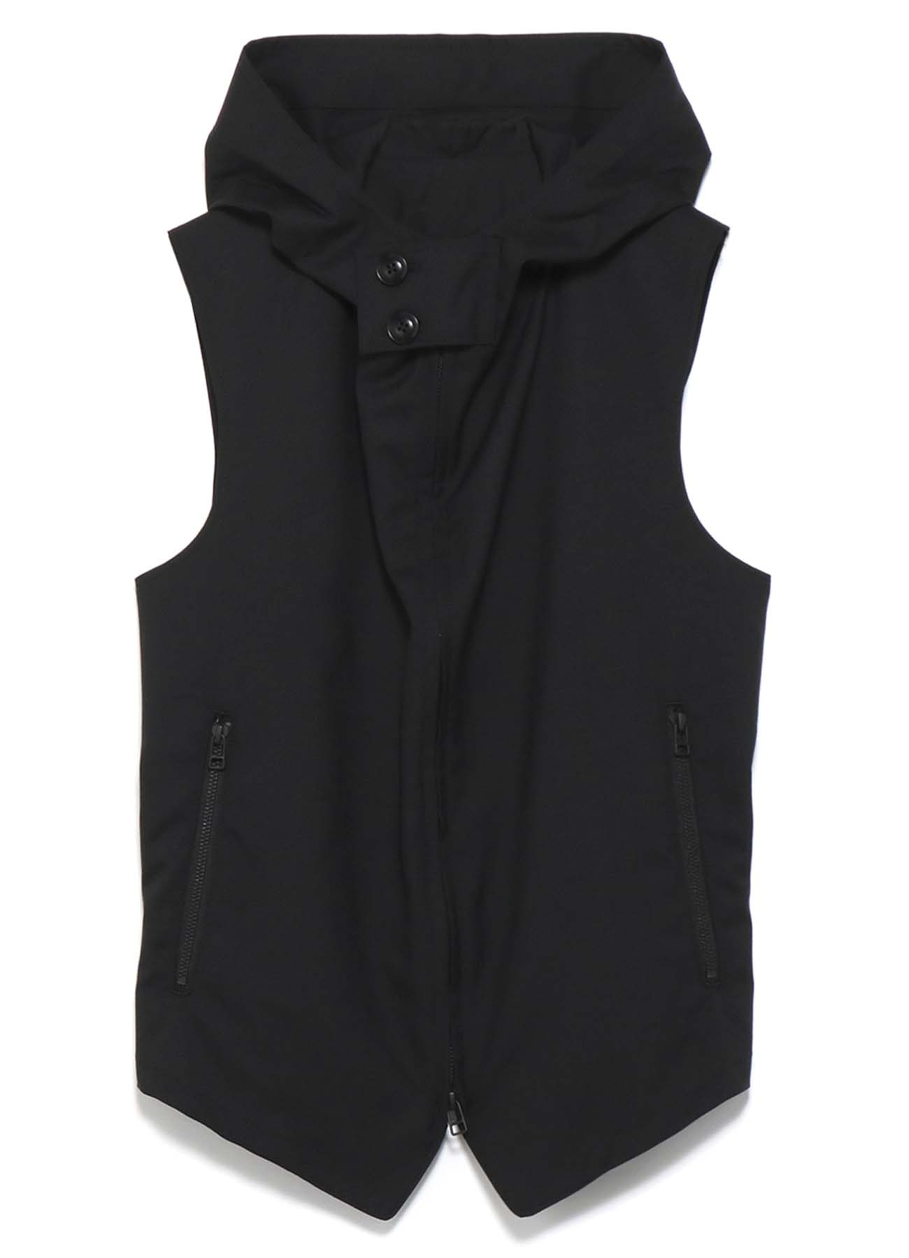 Y's BANG ON!No.95 Hooded-Vest Wool tropical