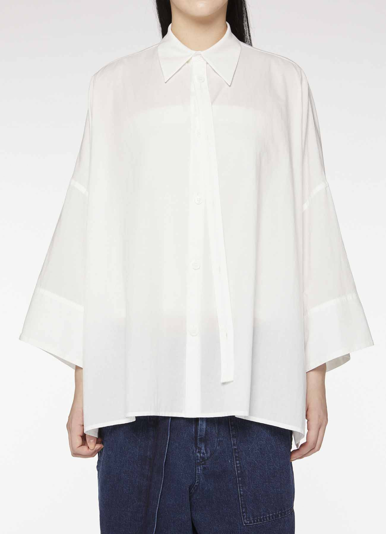COTTON SPARE FRONT FLY BLOUSE