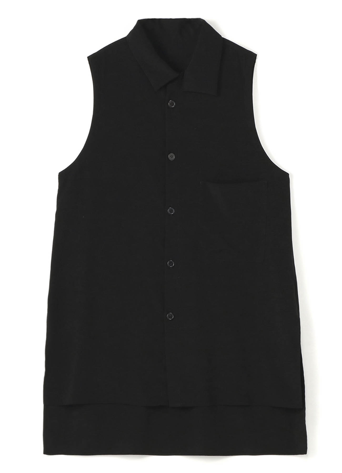 DECYN PLUSH COLLAR SLEEVELESS BLOUSE