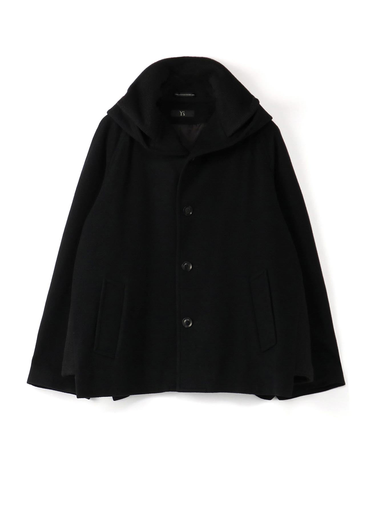 MOSSER KNIT COLLAR HOODED COAT
