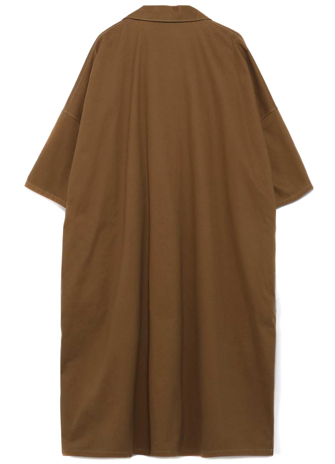 SOFT CHINO CLOTH FRONT DECO CLOTH POCKET SHIRT DRESS