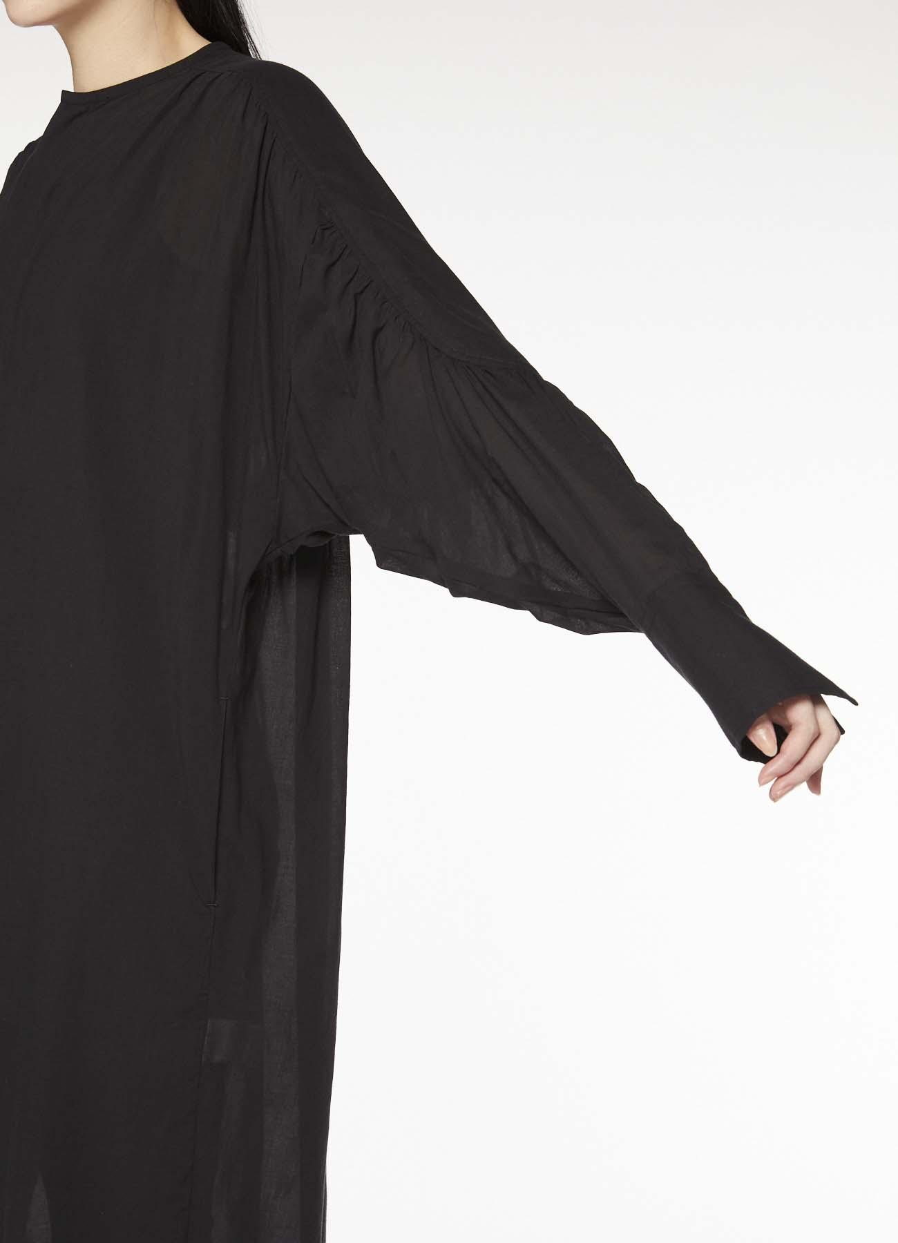 Y'sPINK COTTON SILK GATHER DRESS