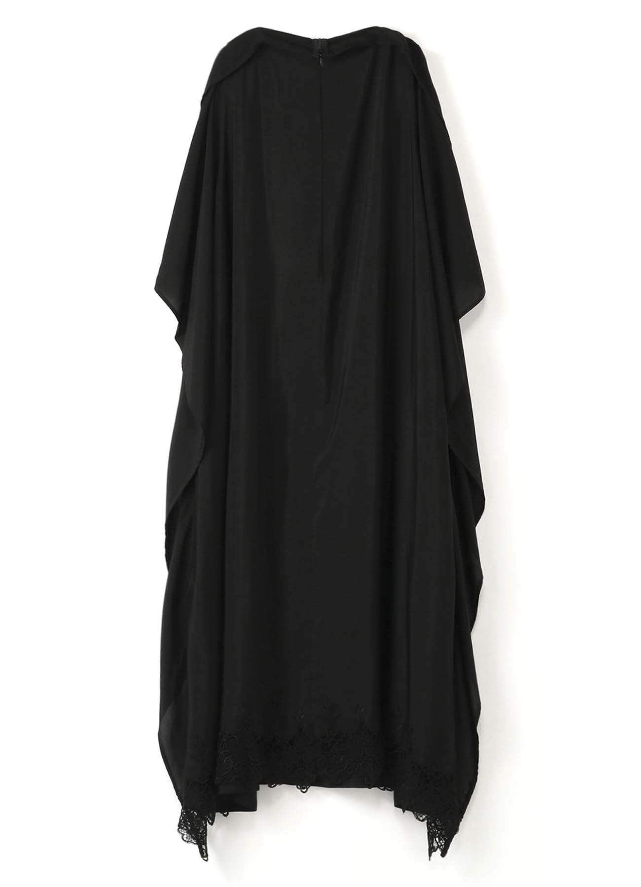 Y'sPINK RAYON ETTE SCALLOP EMBROIDERY BINDING DRESS