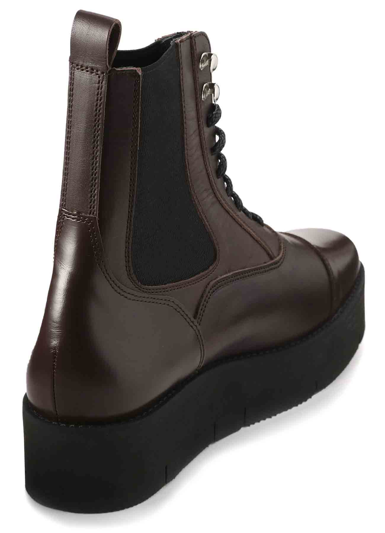 SMOOTH LEATHER THICK SOLE SIDE GORE BOOTS