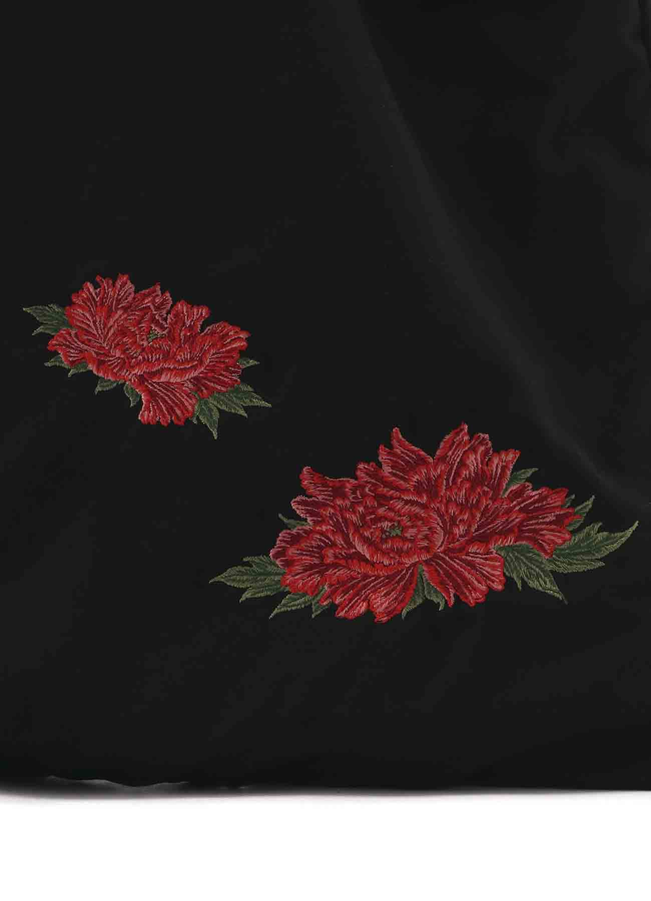 Floral Drawstring tote
