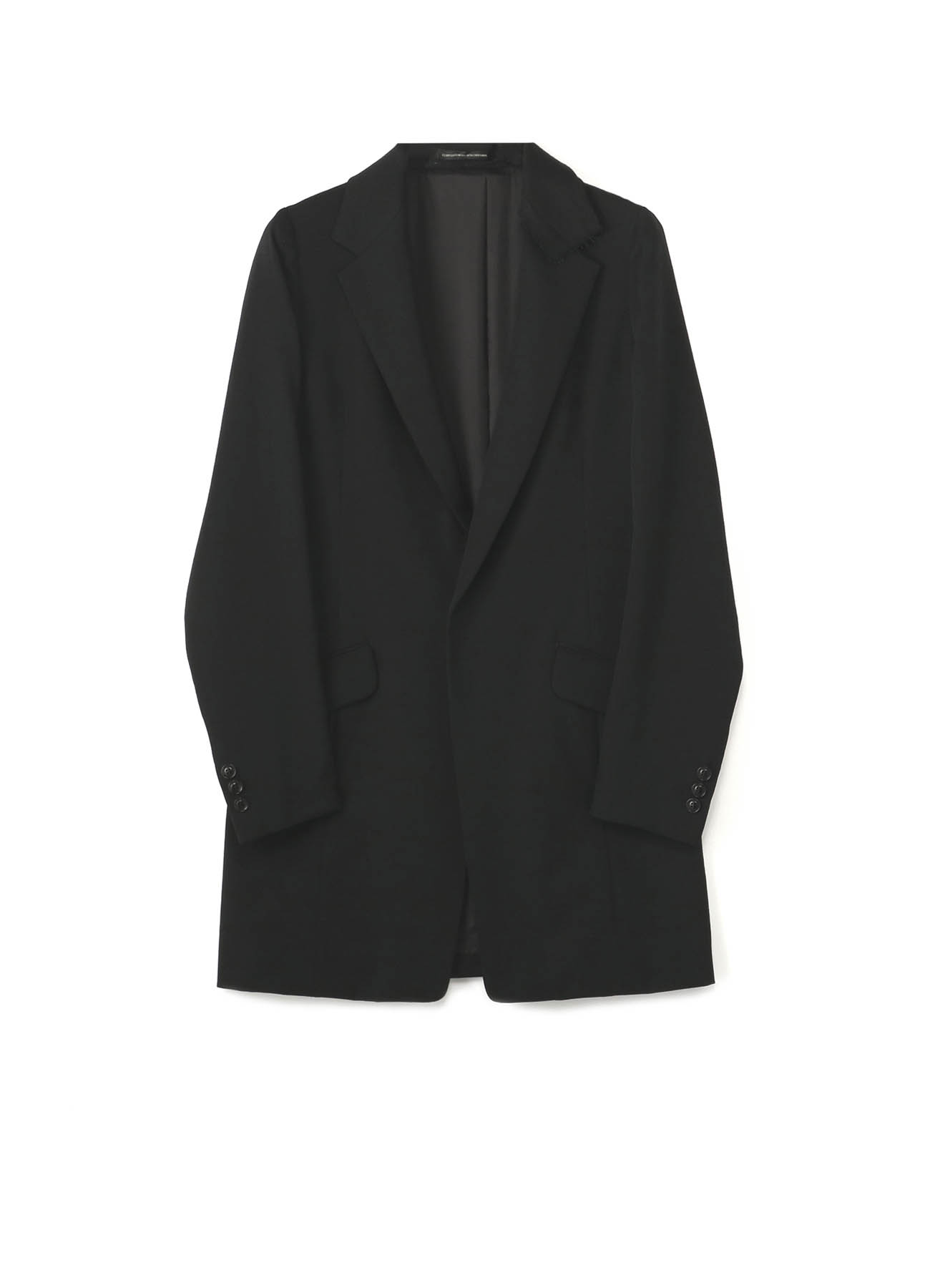 GABARDINE DOUBLE? COLLAR TAILORED JACKET