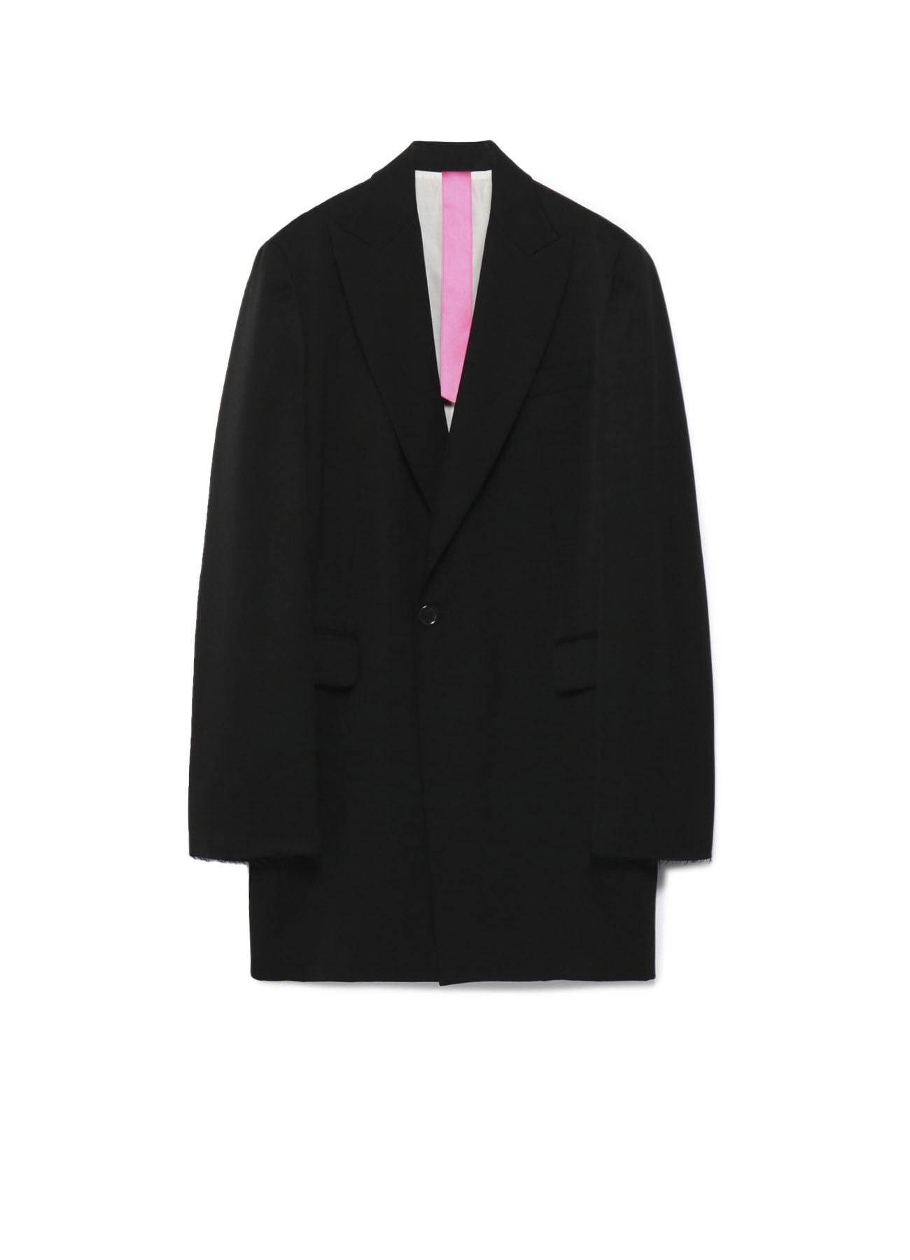 Y'sPINK TUXEDO CLOTH TAILORED JACKET