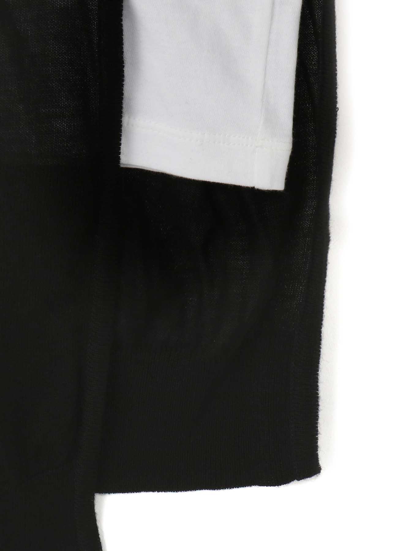 RISMATbyY's COTTON PLAIN STITCH HALF KNIT SHORT SLEEVE T-SHIRT