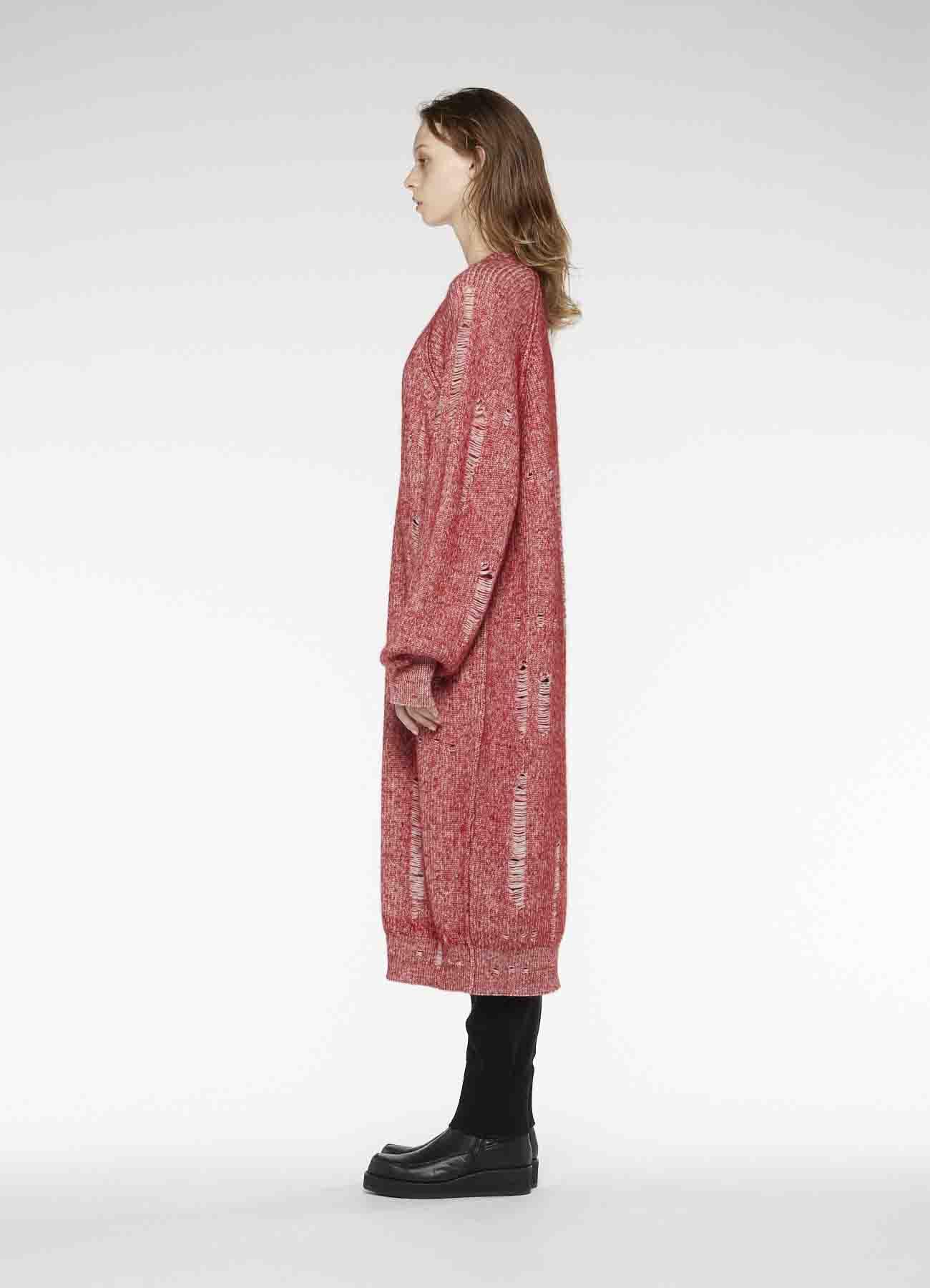 RISMATbyY's WOOL MOHAIR HOLE DRESS