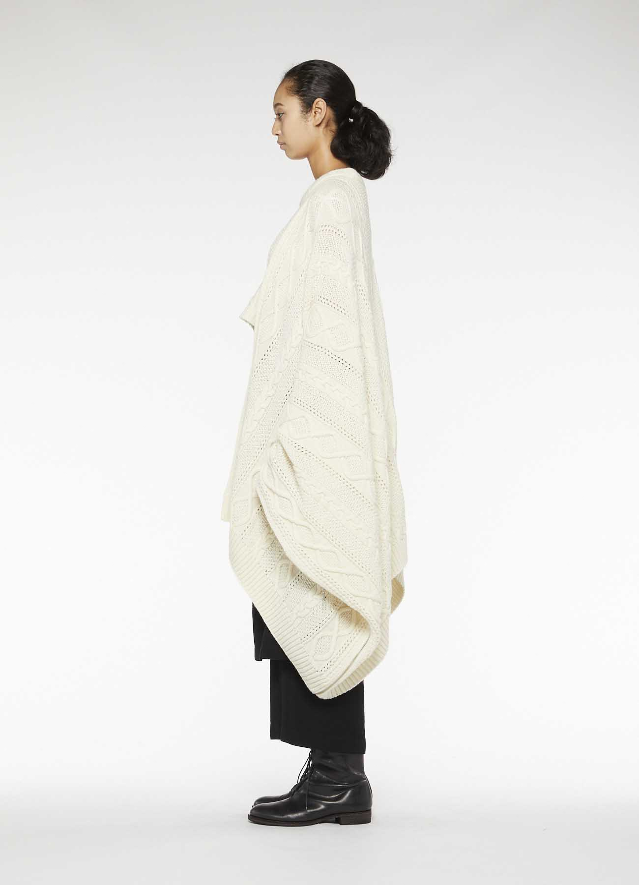 RISMATbyY's WOOL ALAN KNITTING CAPE