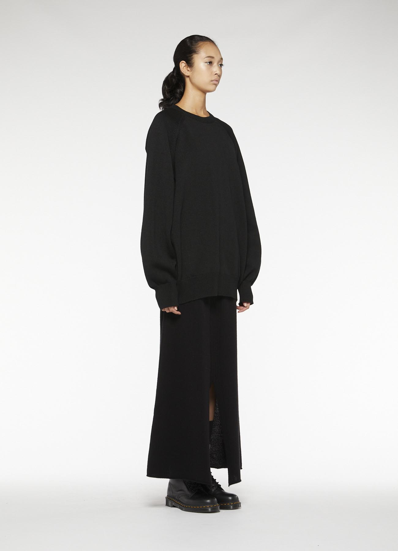 RISMATbyY's POLYESTER WOOL ZIP PULL OVER