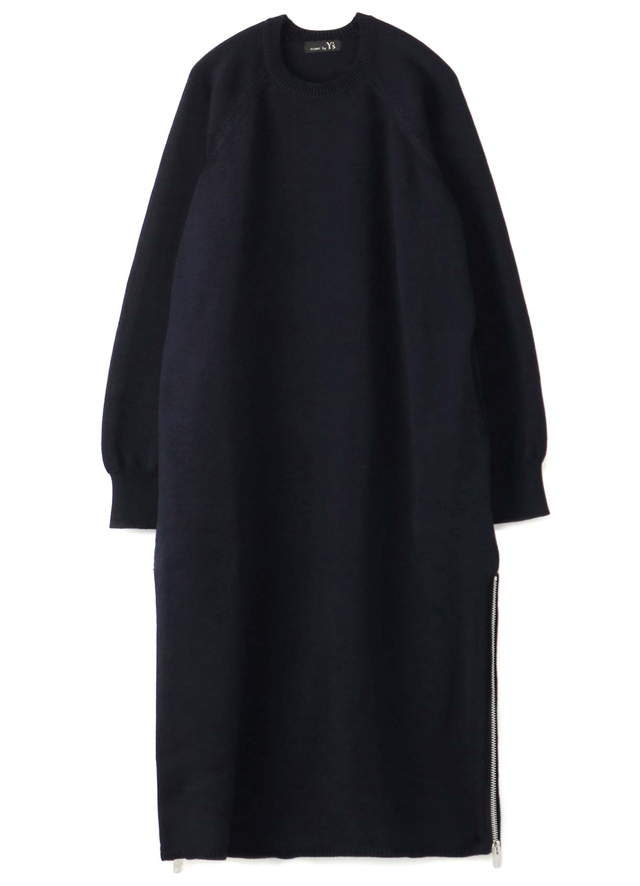 RISMATbyY's POLYESTER WOOL ZIP DRESS