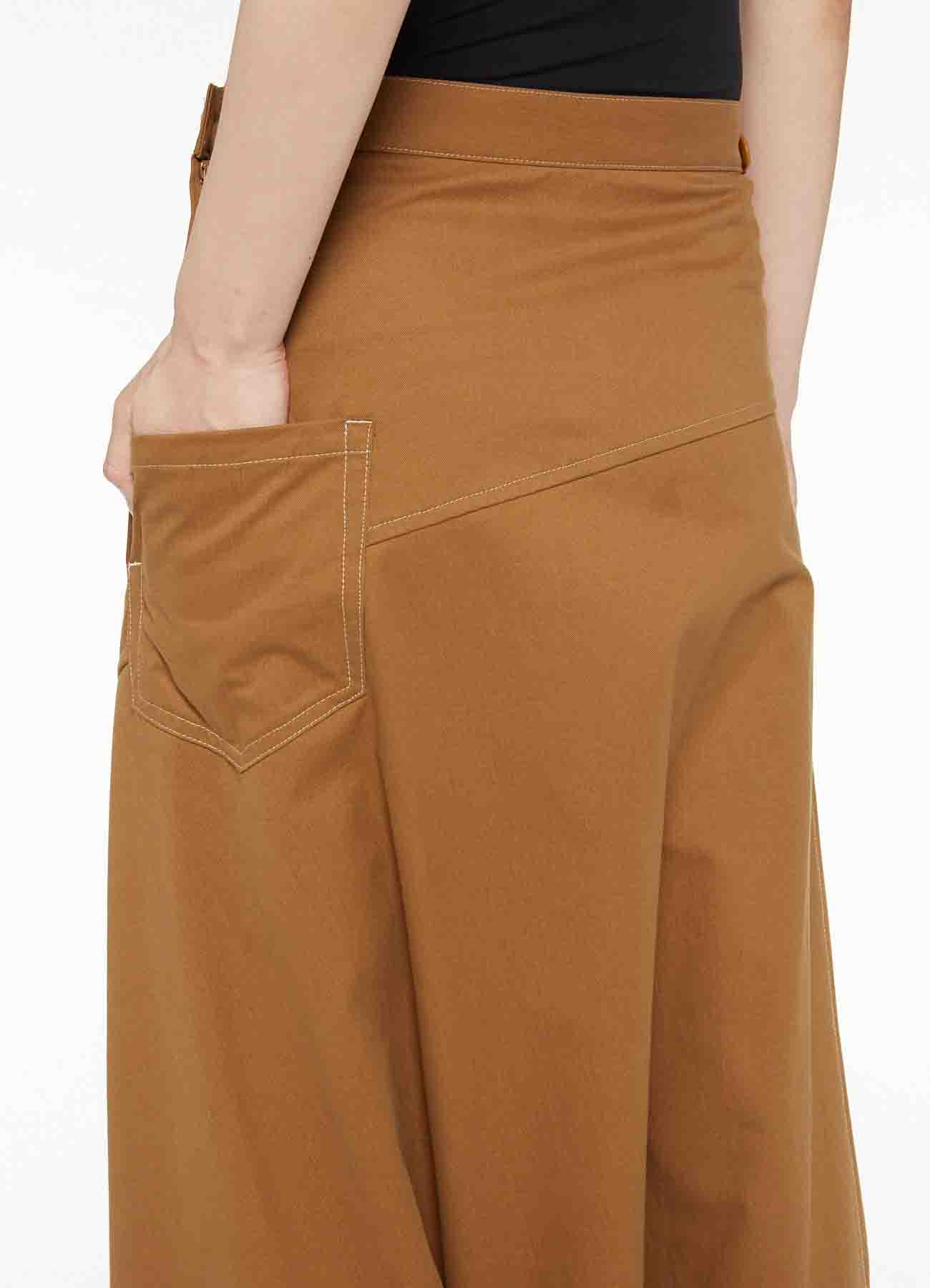 SOFT CHINO CLOTH DESINED SAROUEL PANTS