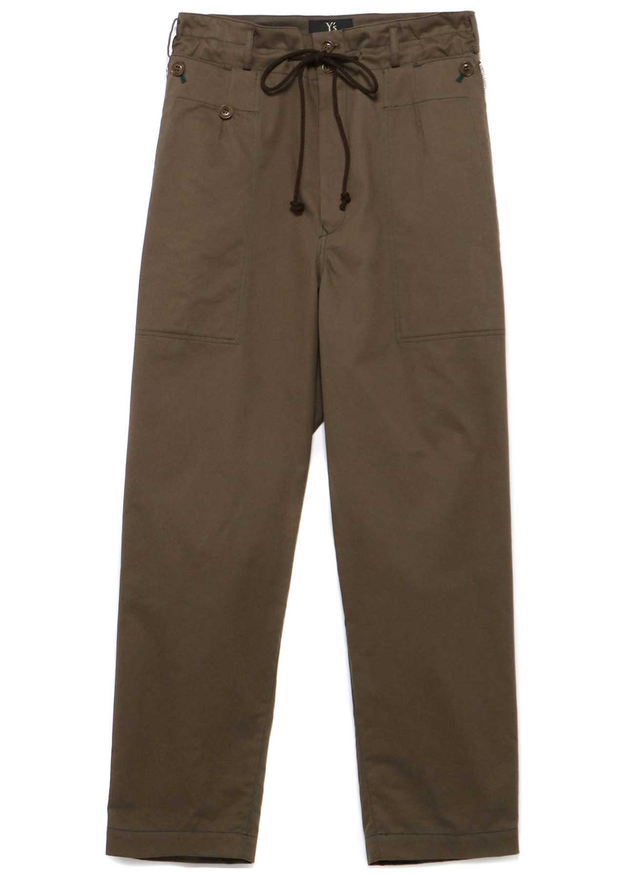 SOFT CHINO CLOTH ZIPPER POCKET PANTS