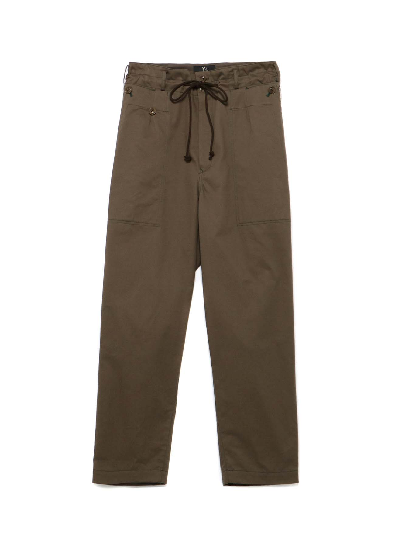 SOFT CHINO CLOTH ZIPPER POCKET PANTS