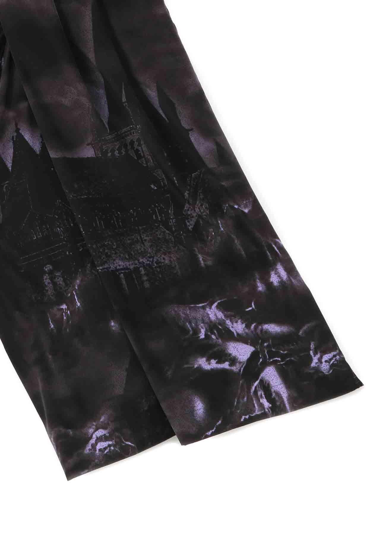 CASTLE PRINT BAGGY PANTS