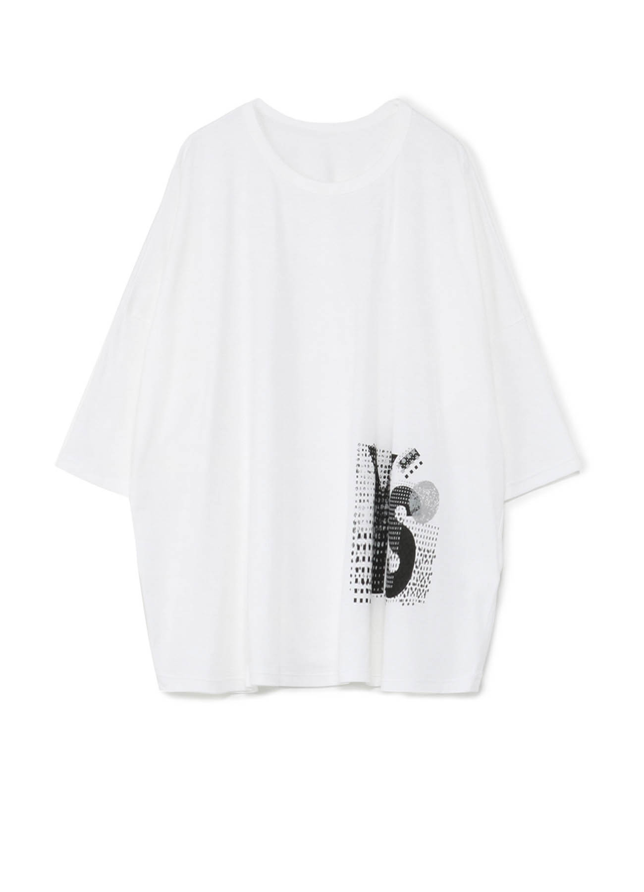COTTON COLLAGE PRINT BIG T-SHIRT