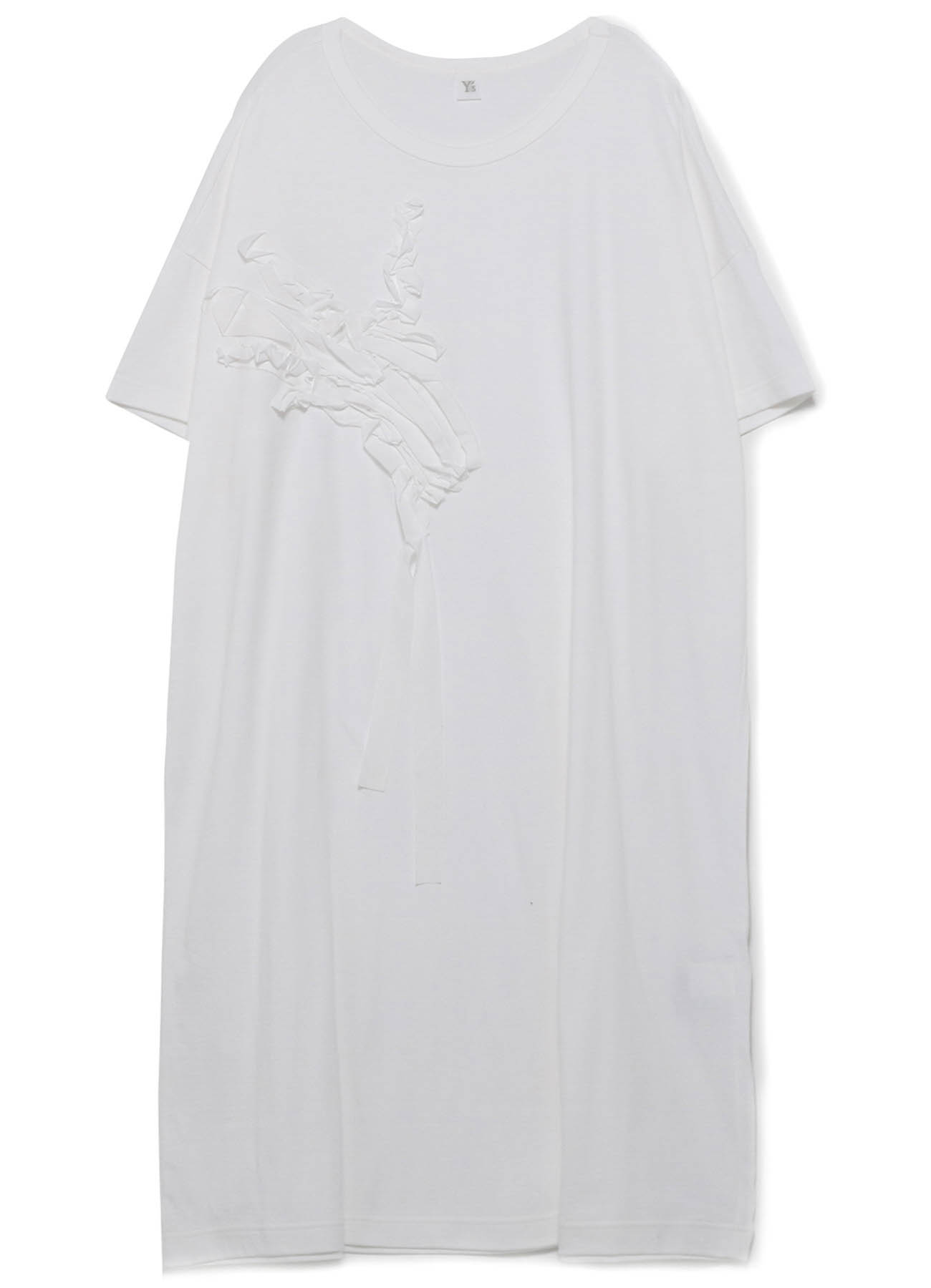CORD EMBROIDERY SHORT SLEEVE DRESS
