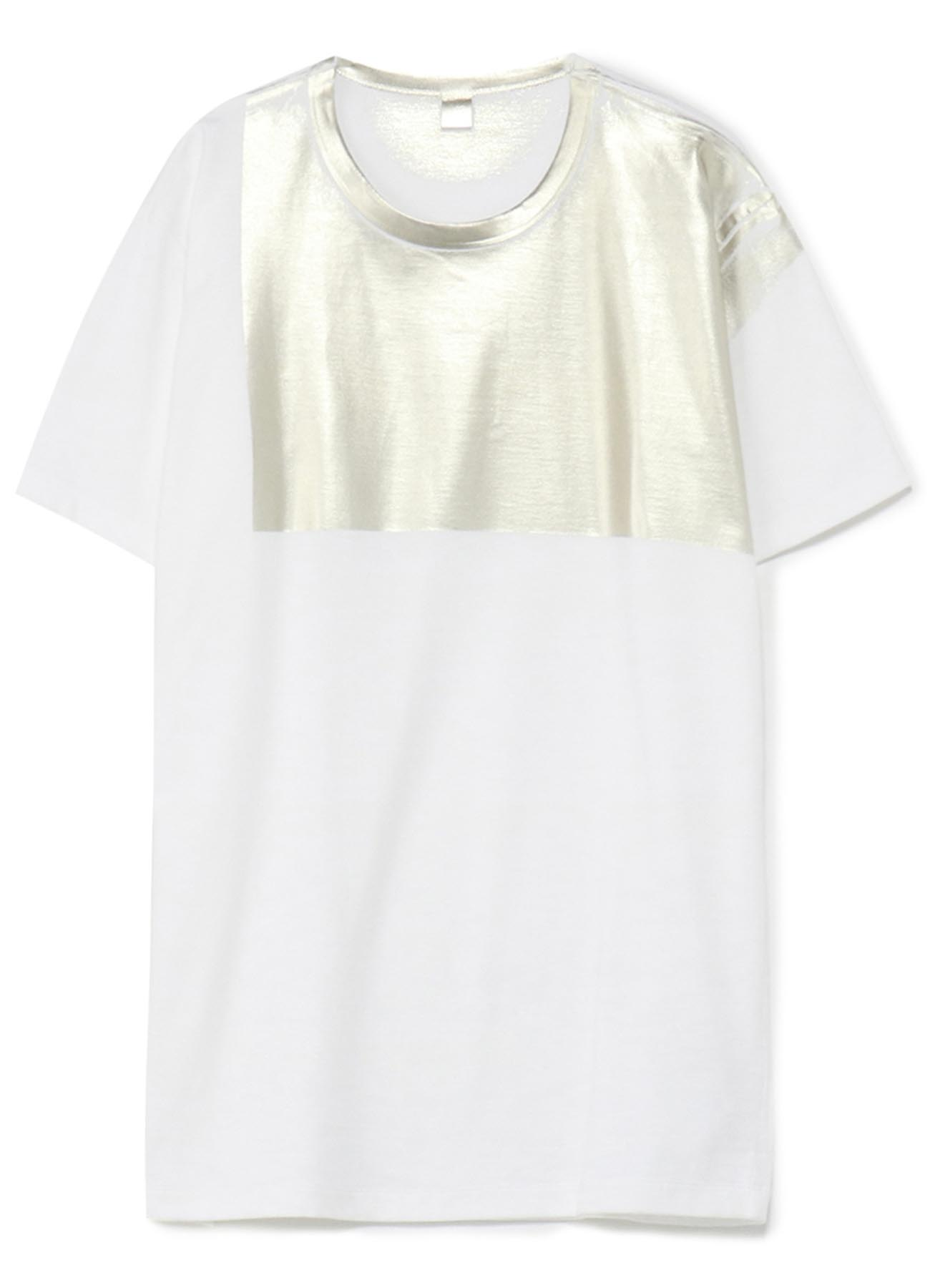 COTTON FOIL PRINT T-SHIRT