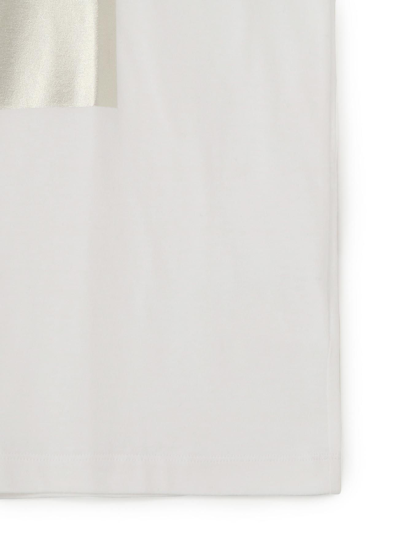COTTON FOIL PRINT LONG SLEEVE T-SHIRT