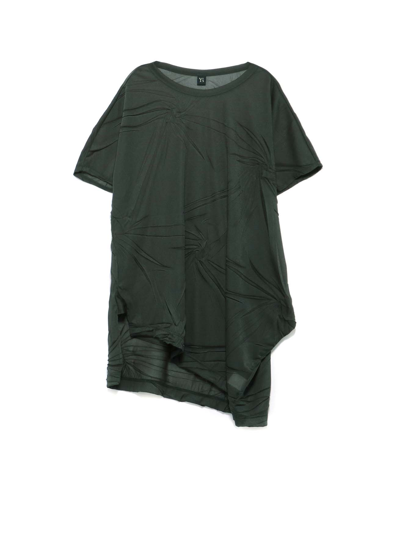 RANDOM WRINKLE PLEATS UNBALANCE T-SHIRT