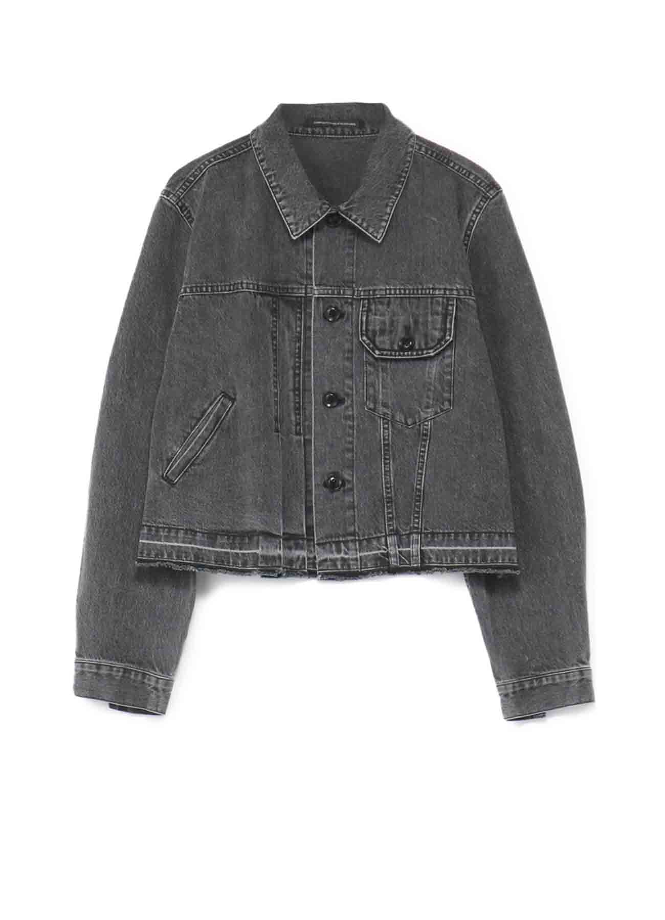 DENIM ASYMMETRICAL JACKET