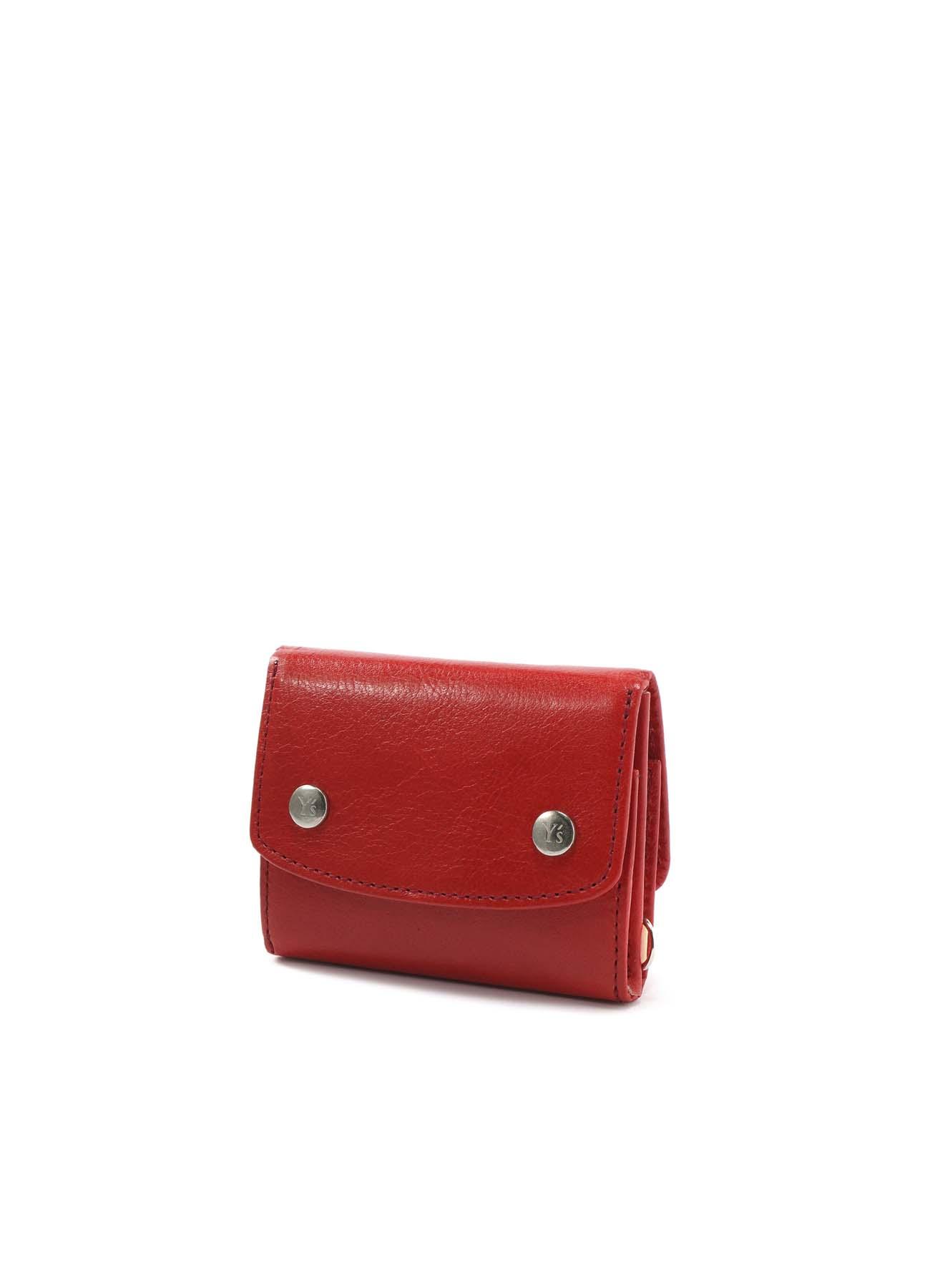 カラースムースレザー コンパクト折りたたみ財布