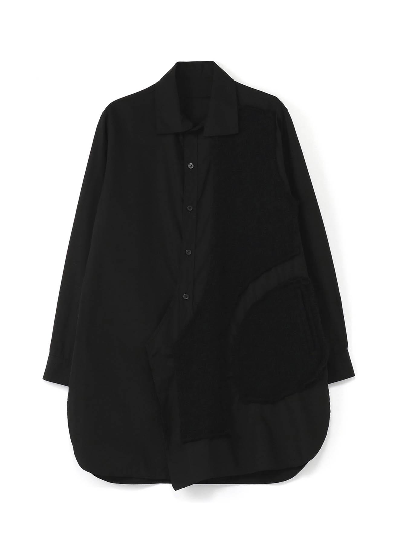 棉 × 羊毛 补丁风格衬衫2