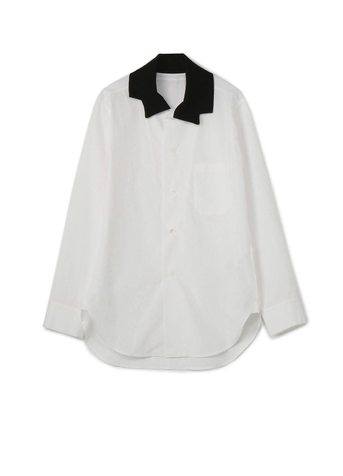 ブロード リブ衿シャツ