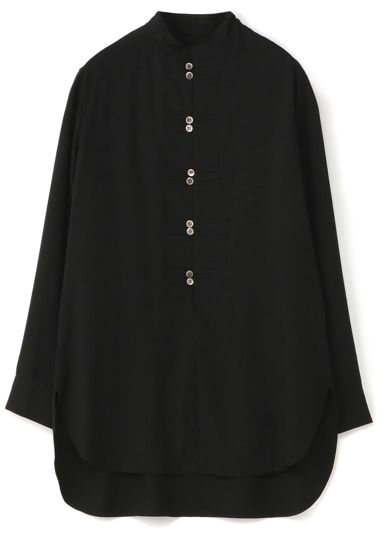 中式盘扣风格长袖衬衫