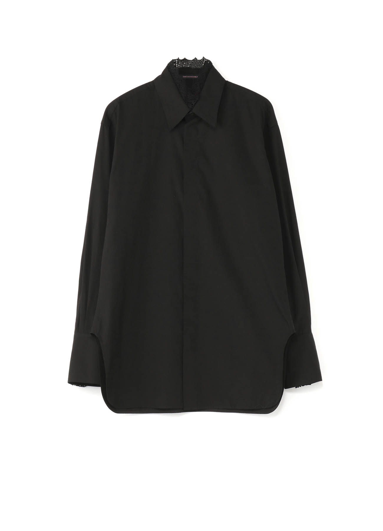 Y'sPINK ブロード 衿レース付シャツ