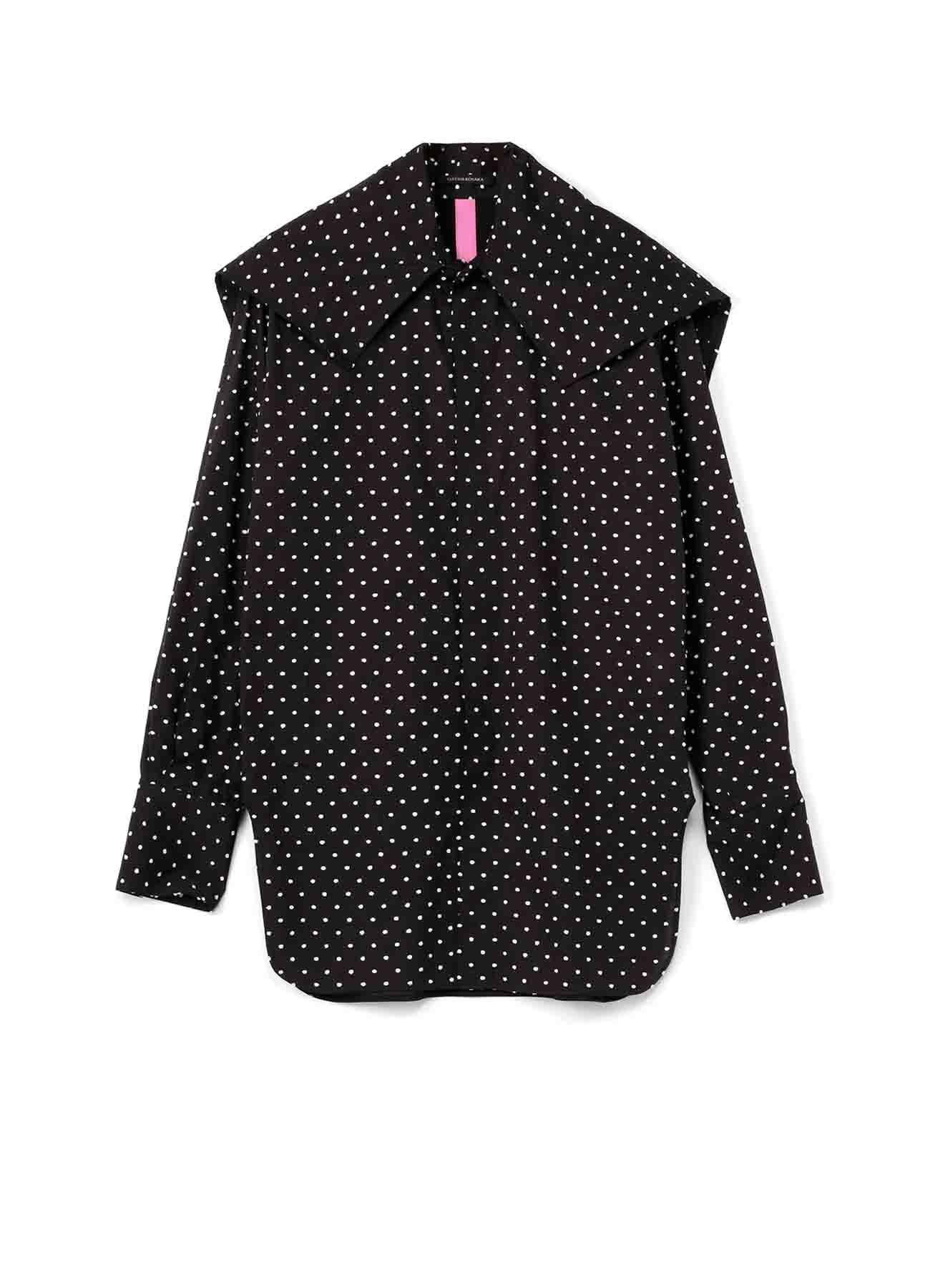 Y'sPINK コットンカットジャガード BIG上衿シャツ