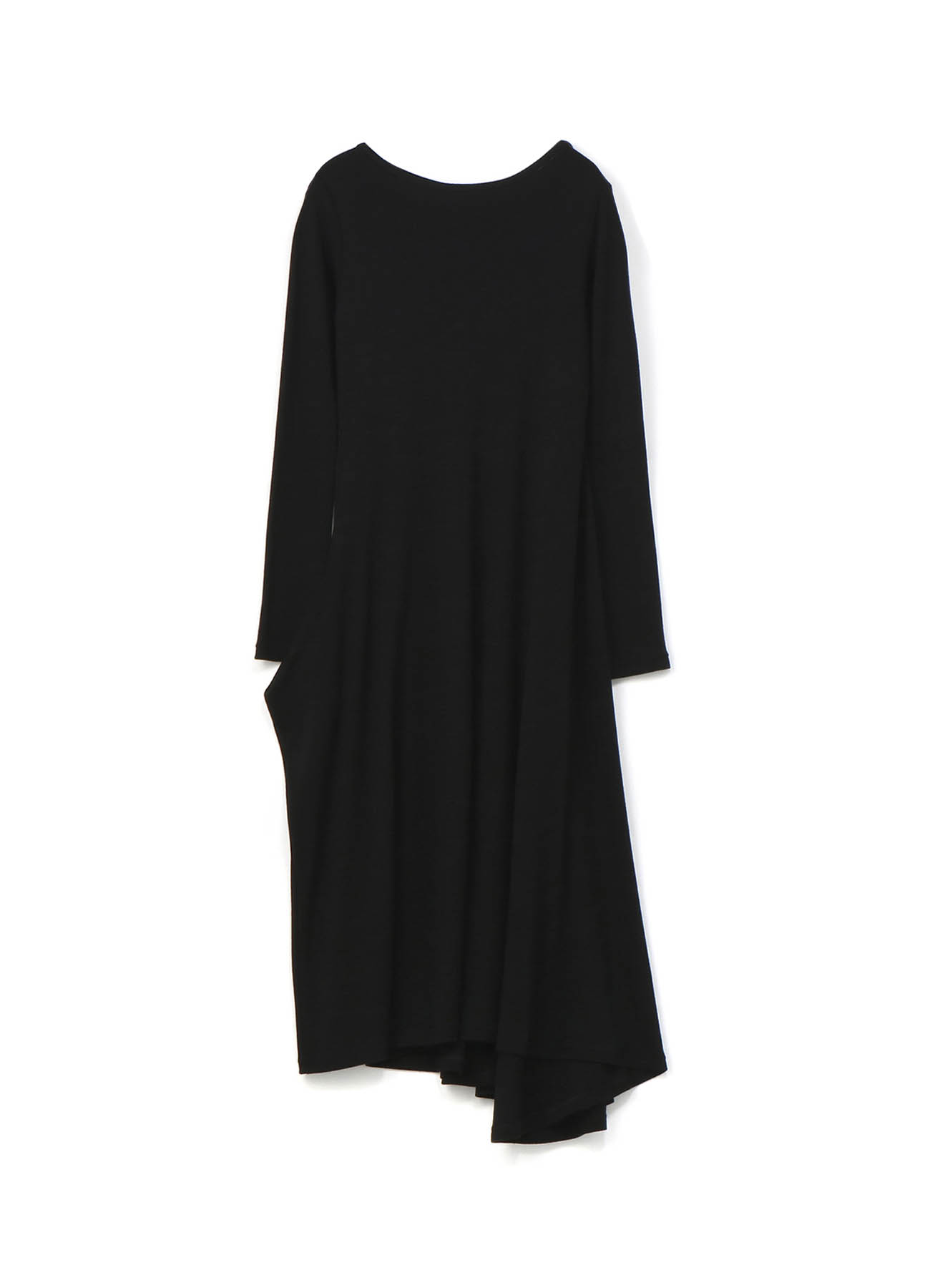 羊毛长款不对称设计连衣裙