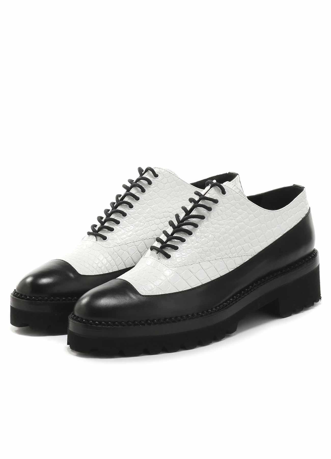 Y'sPINK 羊皮拼接短靴