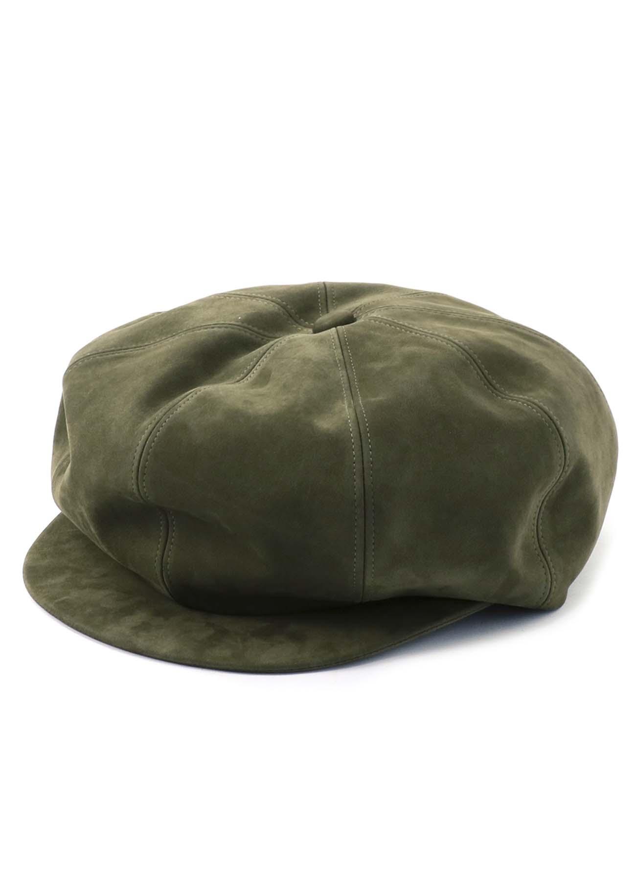 ヌバック 8枚接ぎキャスケット帽